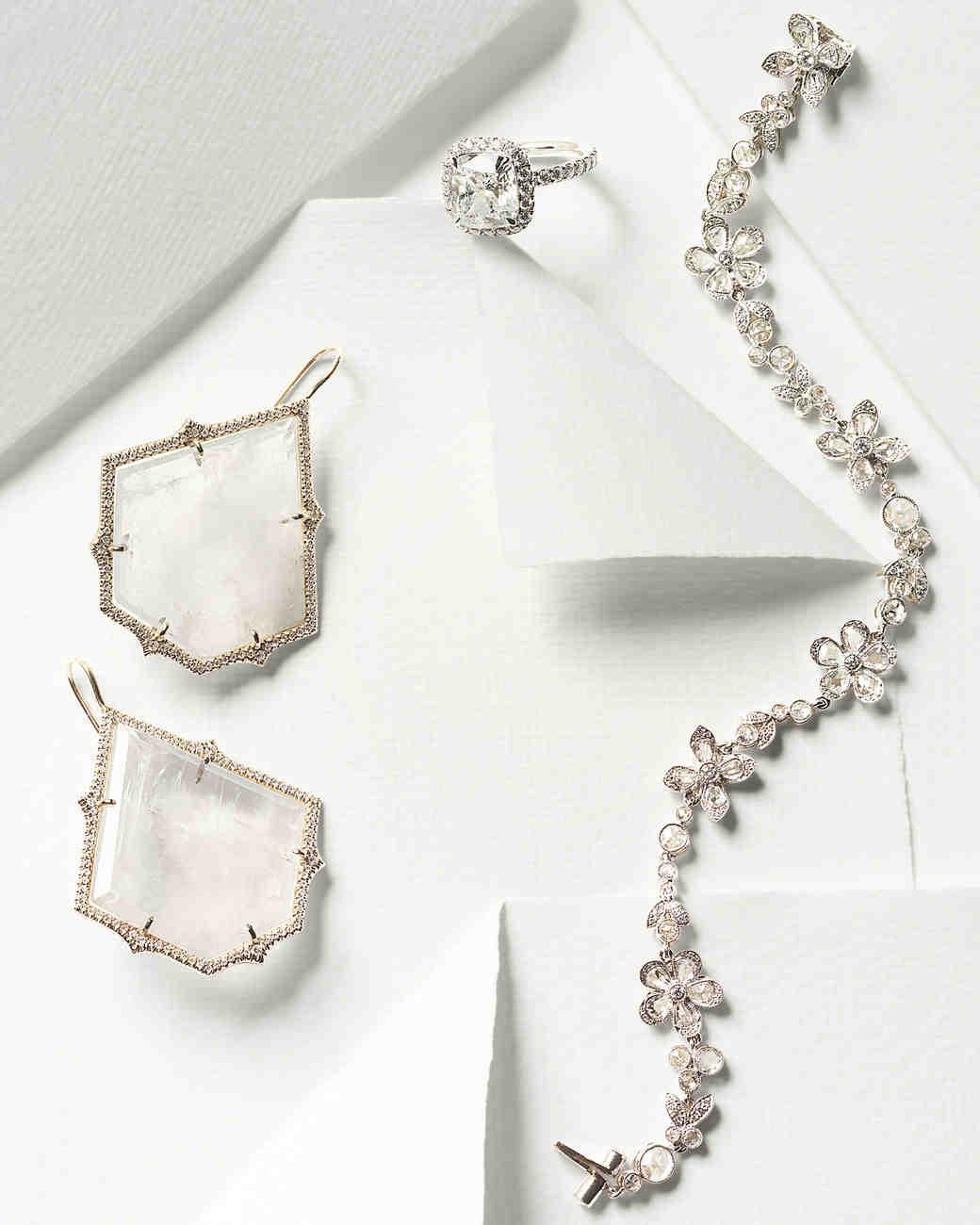 Sparkling Wedding Day Jewelry Martha Stewart Weddings