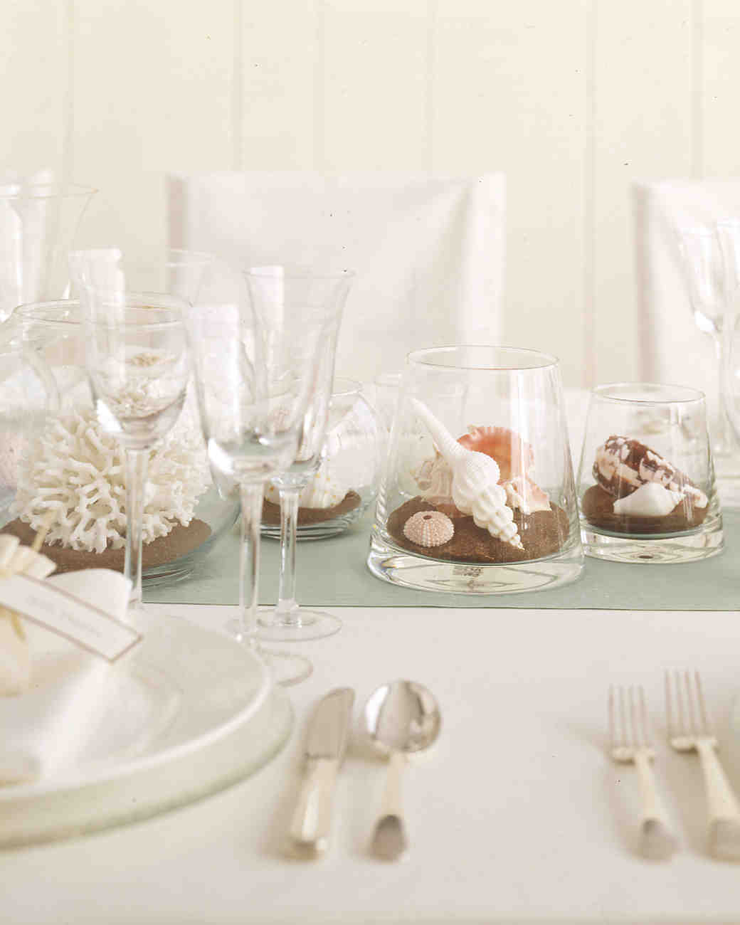 seashell centerpieces