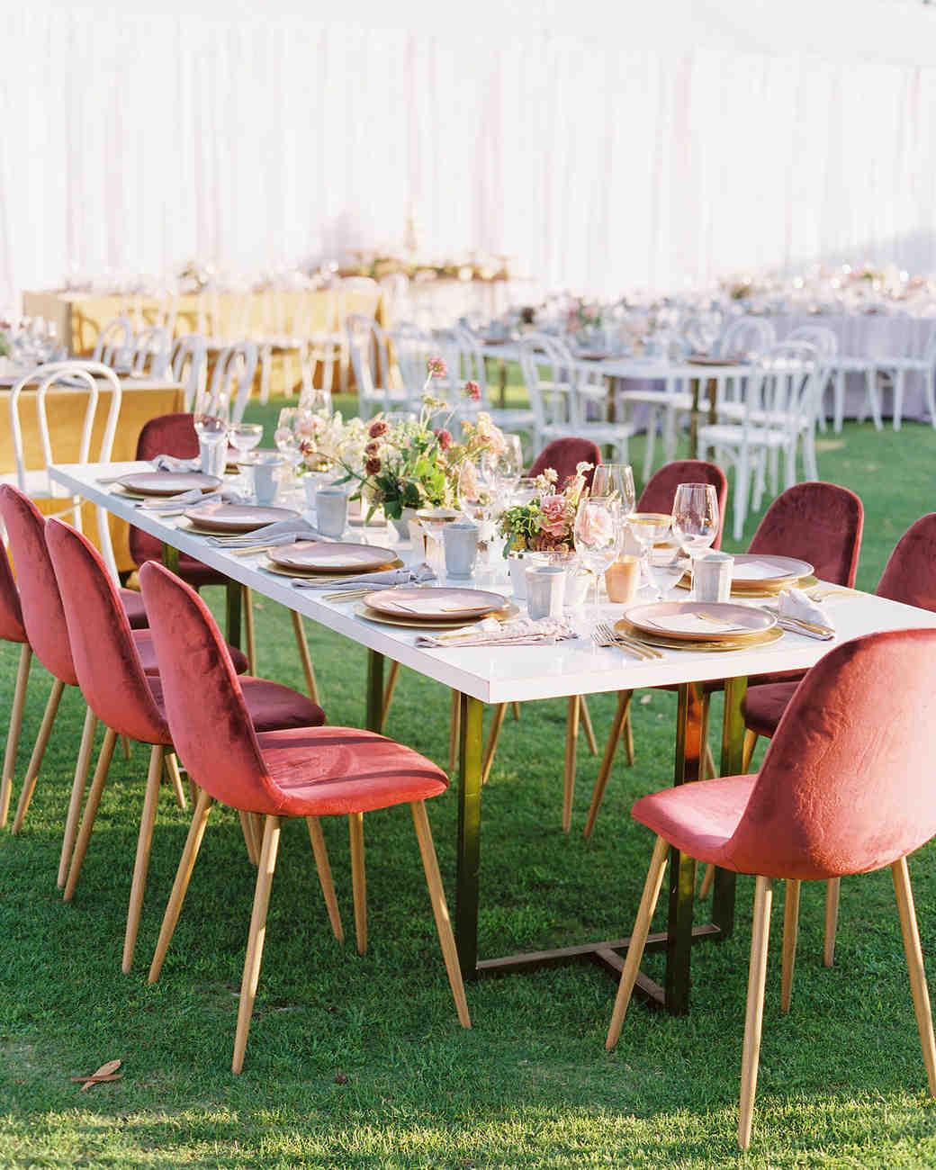 paige zack wedding reception on lawn