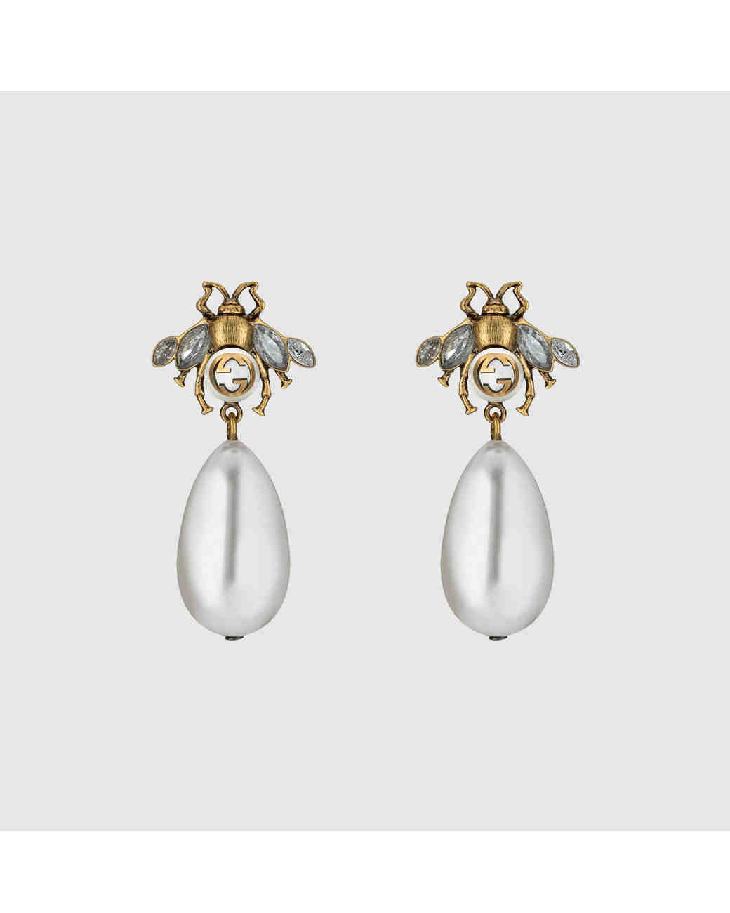 Pearl Wedding Earrings Gucci Insect
