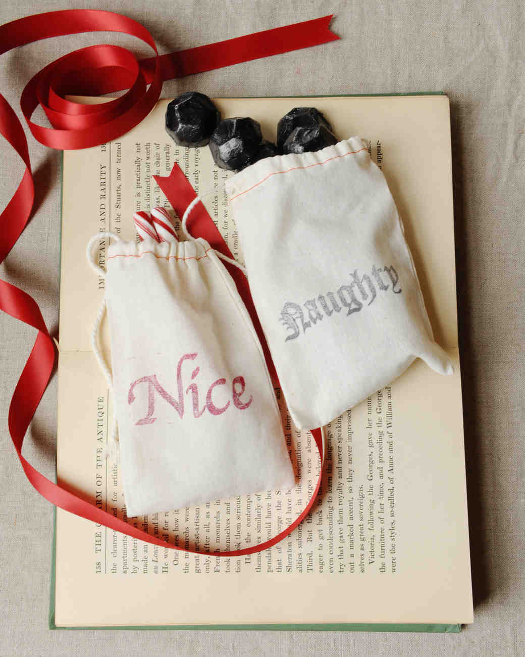 Naughty and Nice Favor Bags