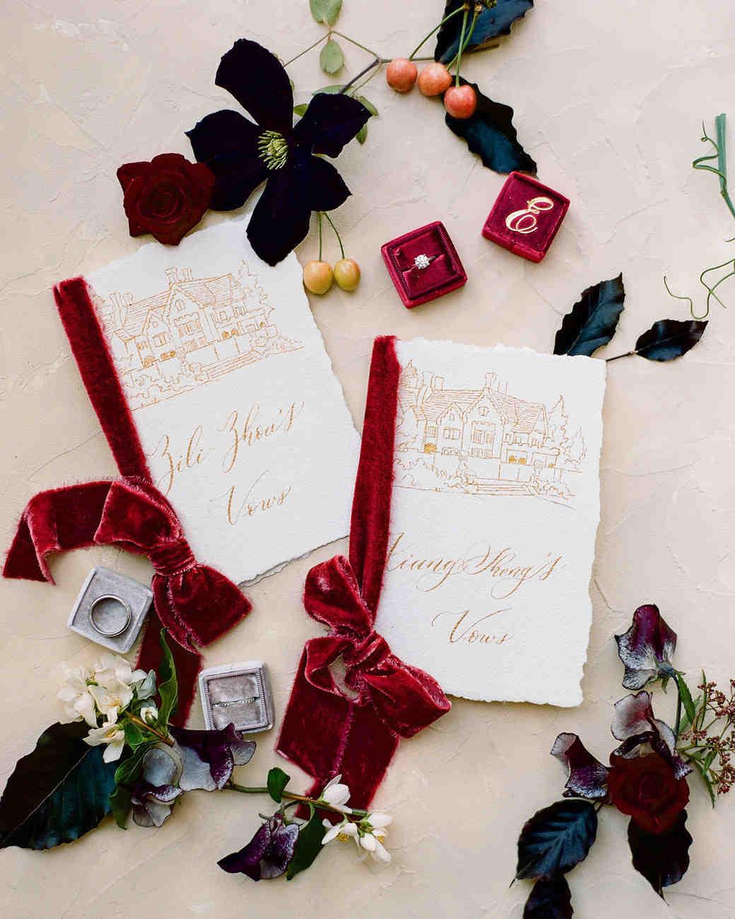 20 Bold Ideas for a Red Wedding Color Palette | Martha Stewart Weddings