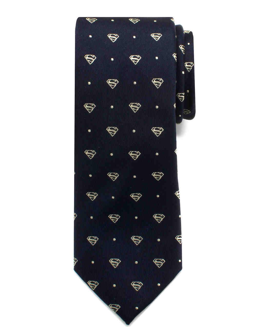 black superman tie