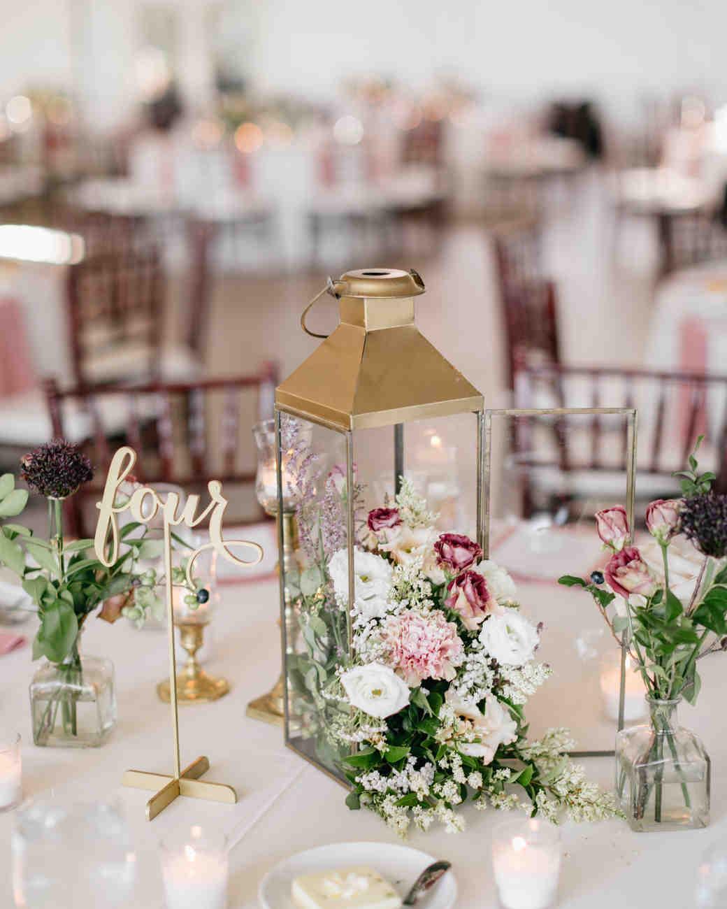 rose lantern centerpiece