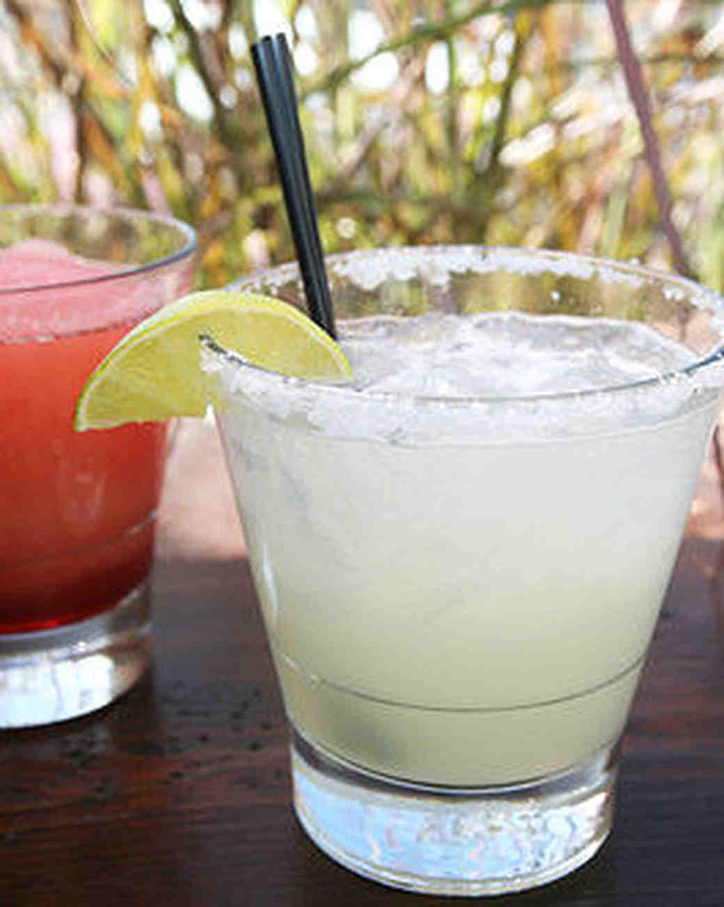 pink and white margaritas