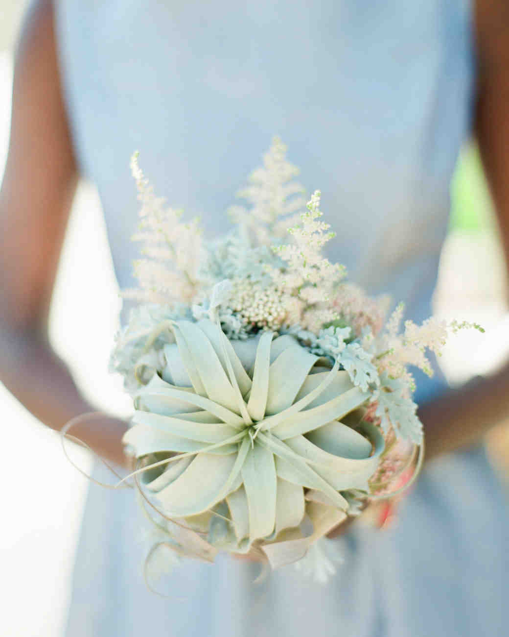 Air plant desert wedding bouquet