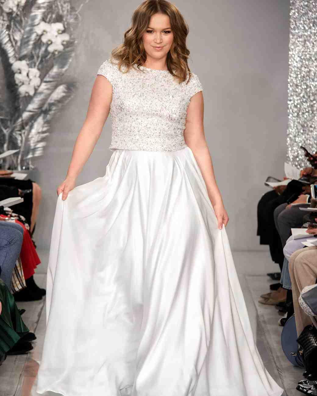 THEIA cap sleeve silk satin wedding dress Spring 2020