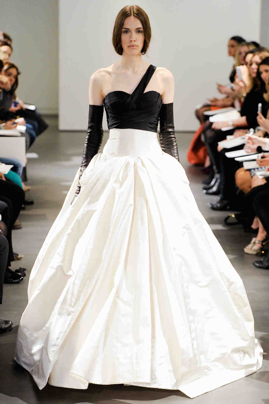 Vera Wang black and white wedding dress