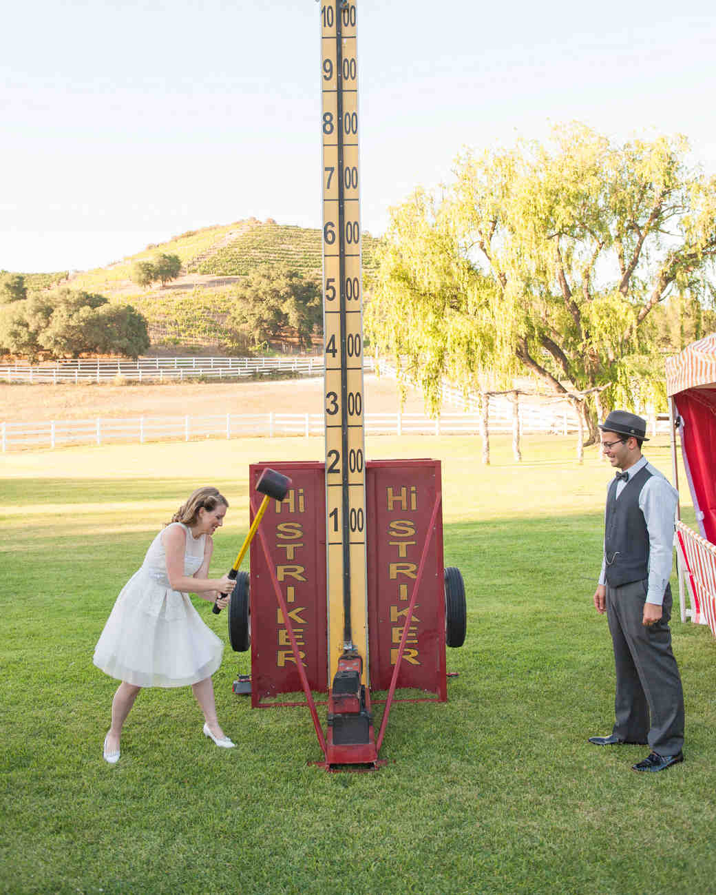 wedding games strongman bell ring
