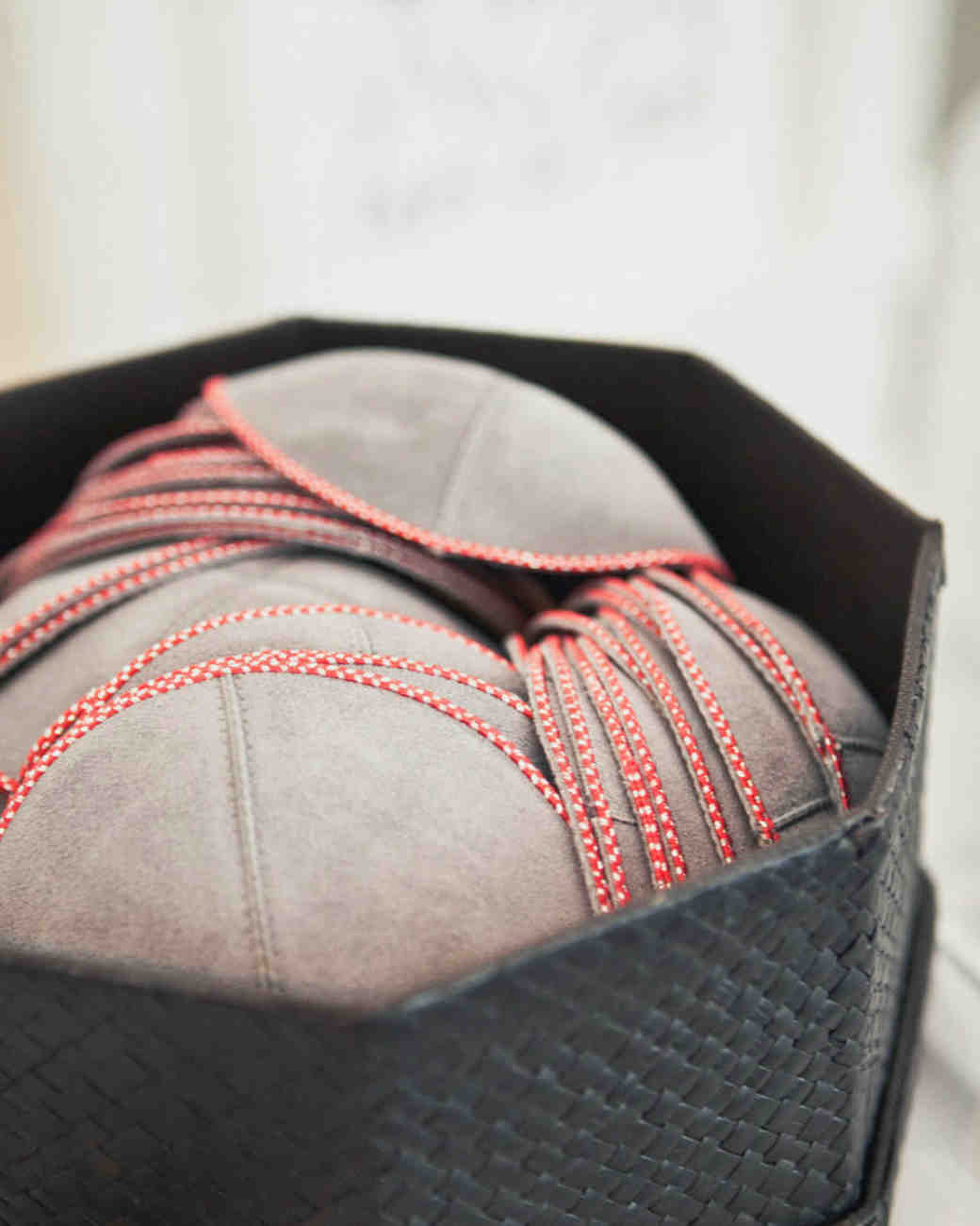 baseball-inspired red tonal stitching yarmulkes