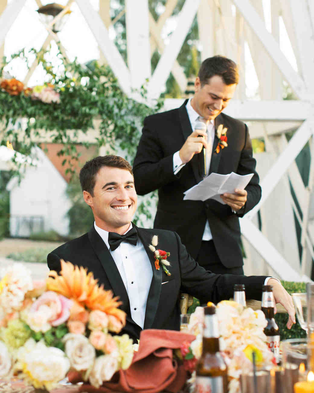 groom best man speech outdoor reception