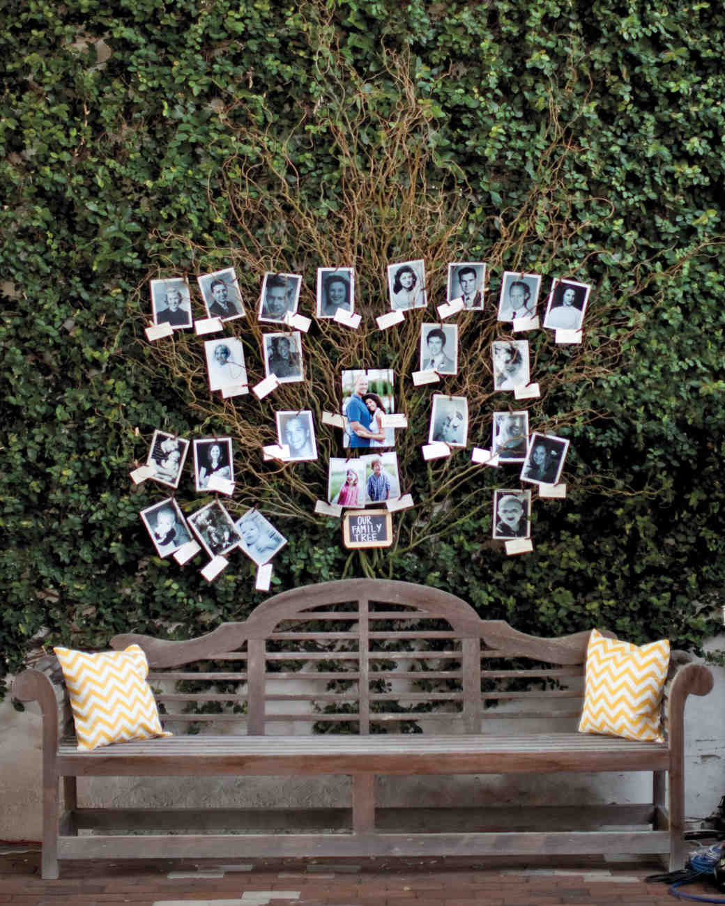 Display Family Photos At Wedding Reception