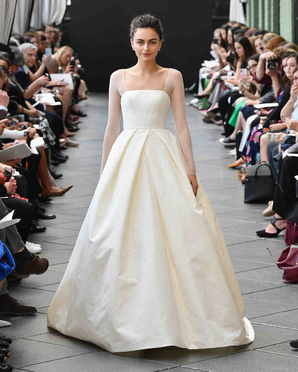 amsale wedding dress spring 2019 a-line