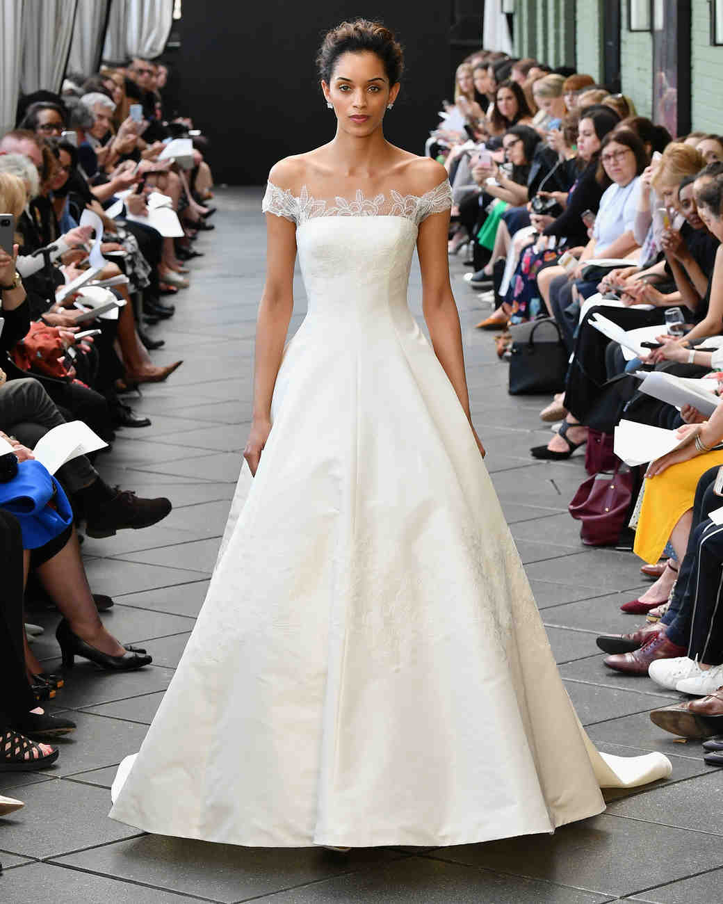 amsale wedding dress spring 2019 off the shoulder
