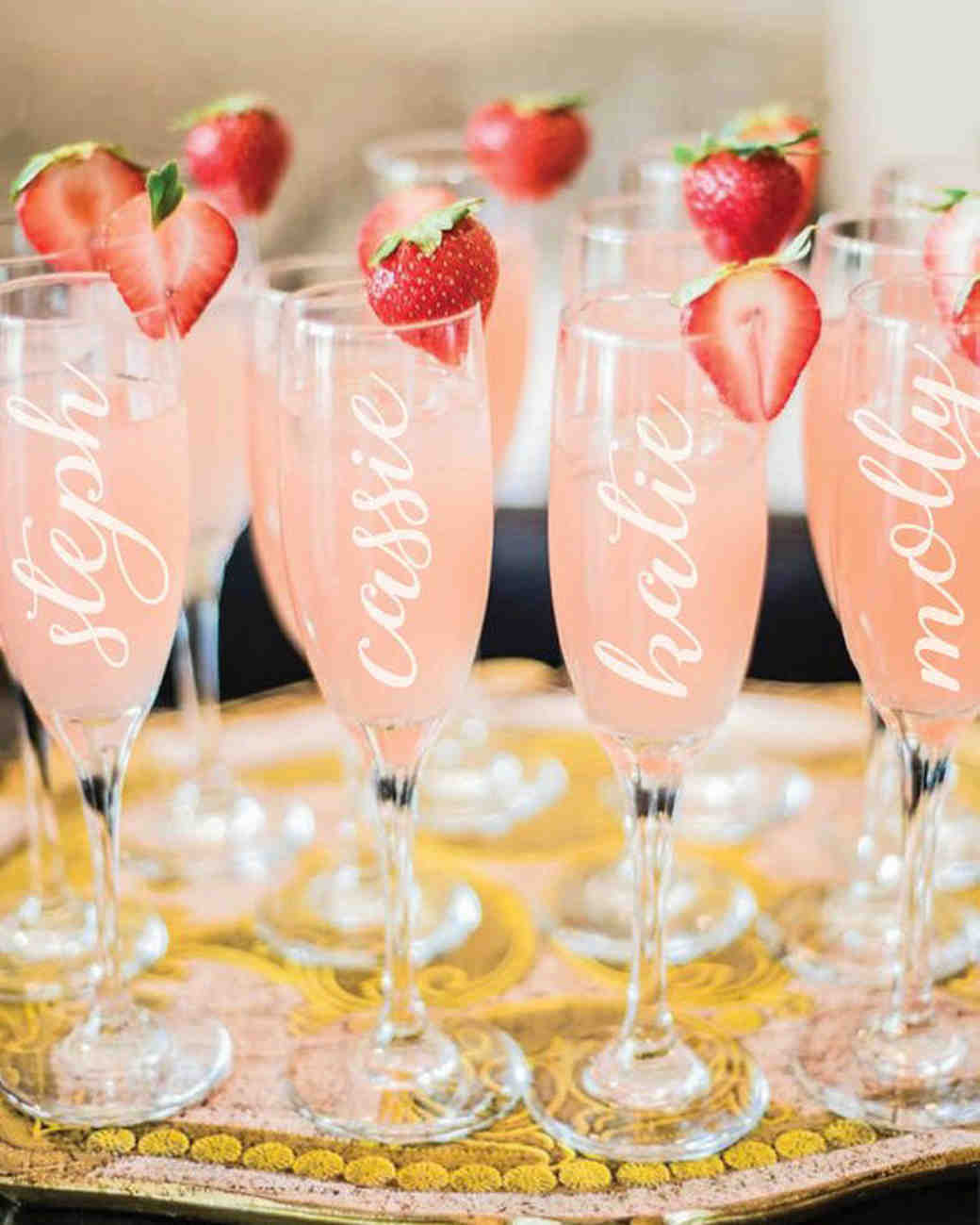 be my bridesmaid customized champagne flutes