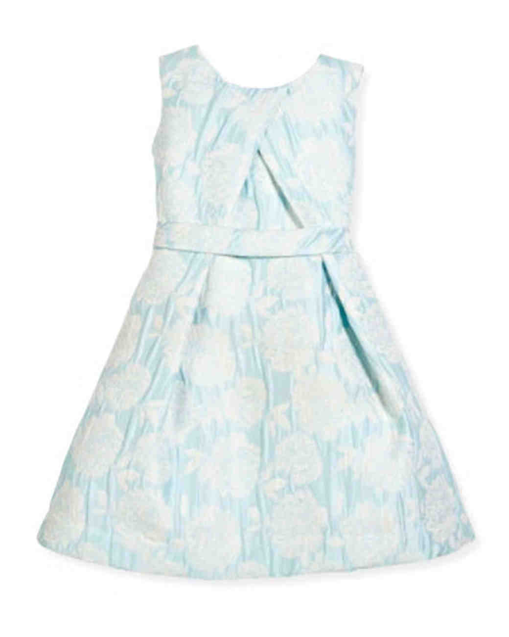 Helena Floral Jacquard Pleated Dress