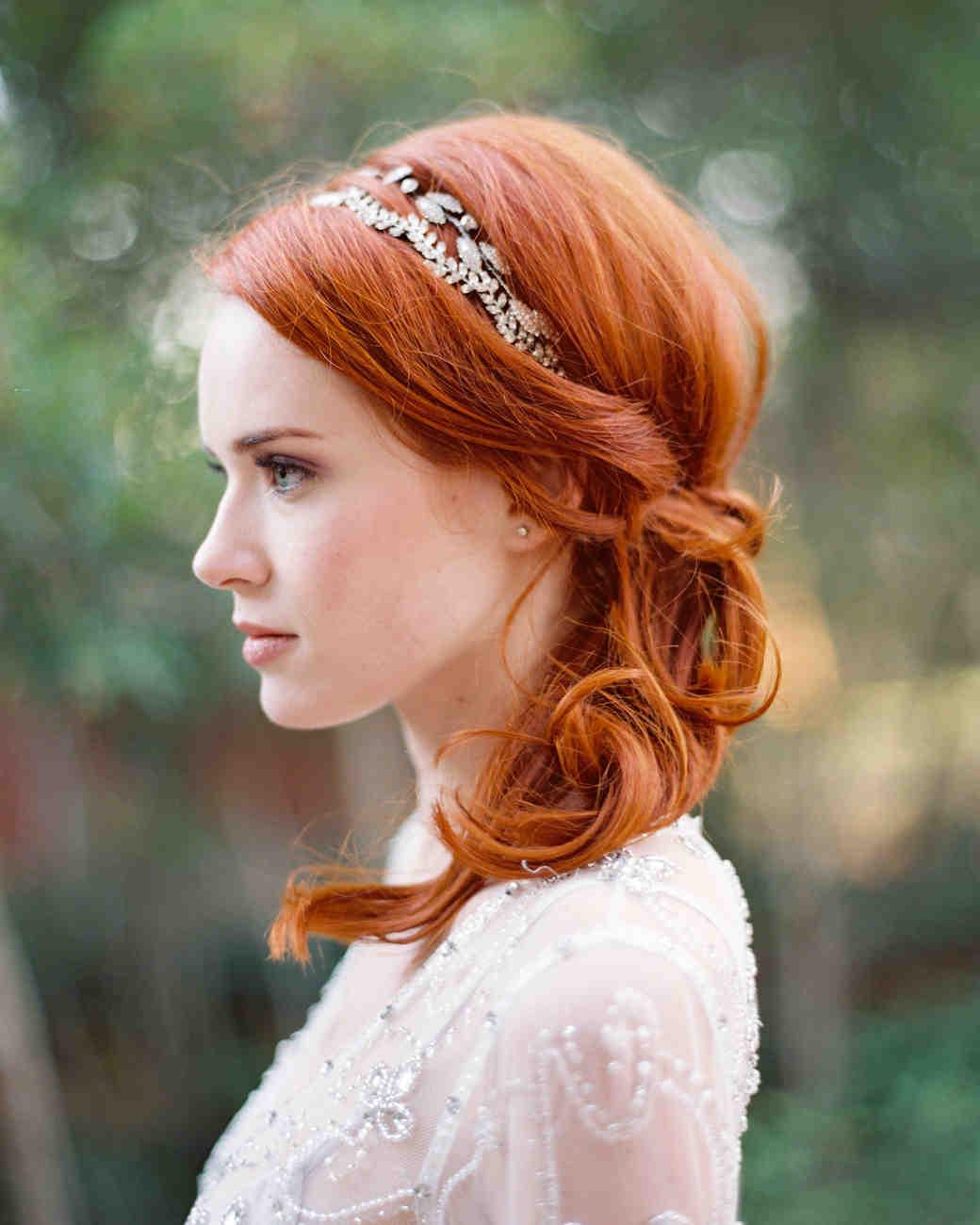 bridal ponytail sideswept