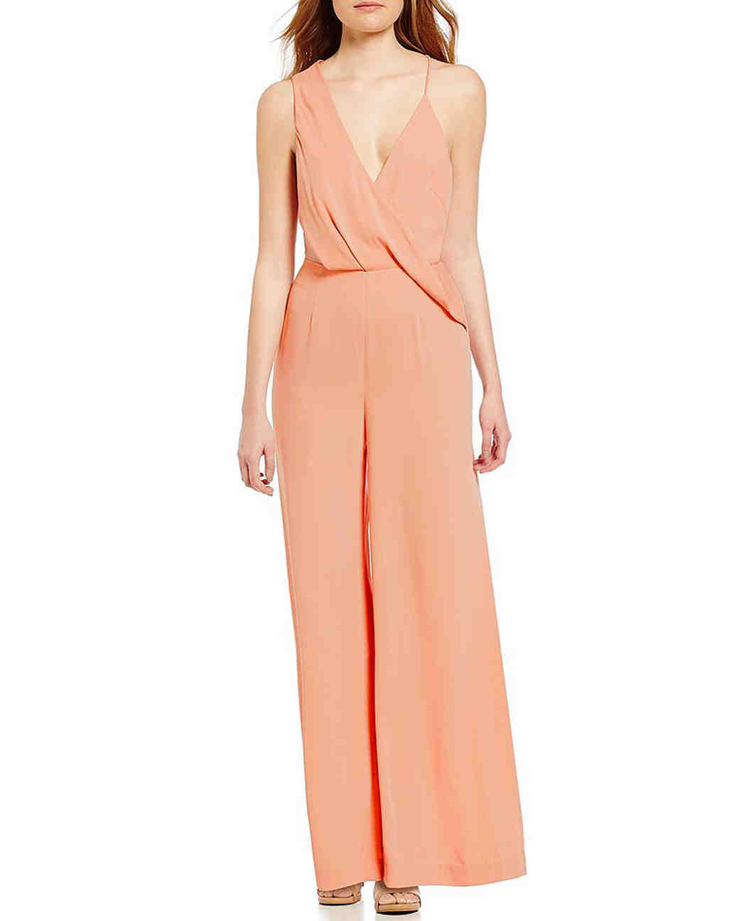 peach jumpsuit