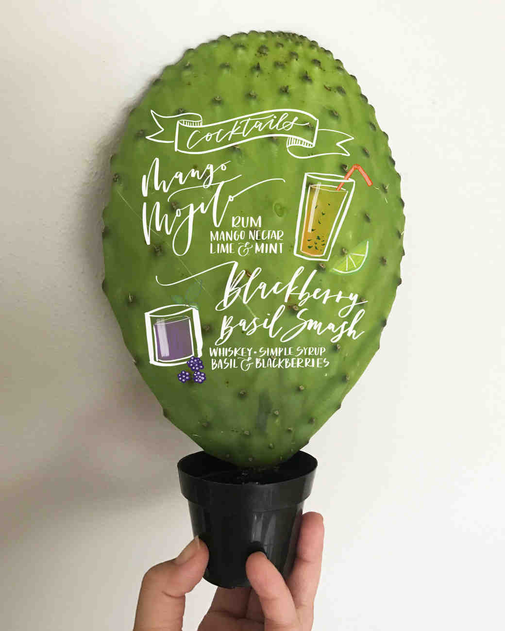 Cactus Cocktail Menu