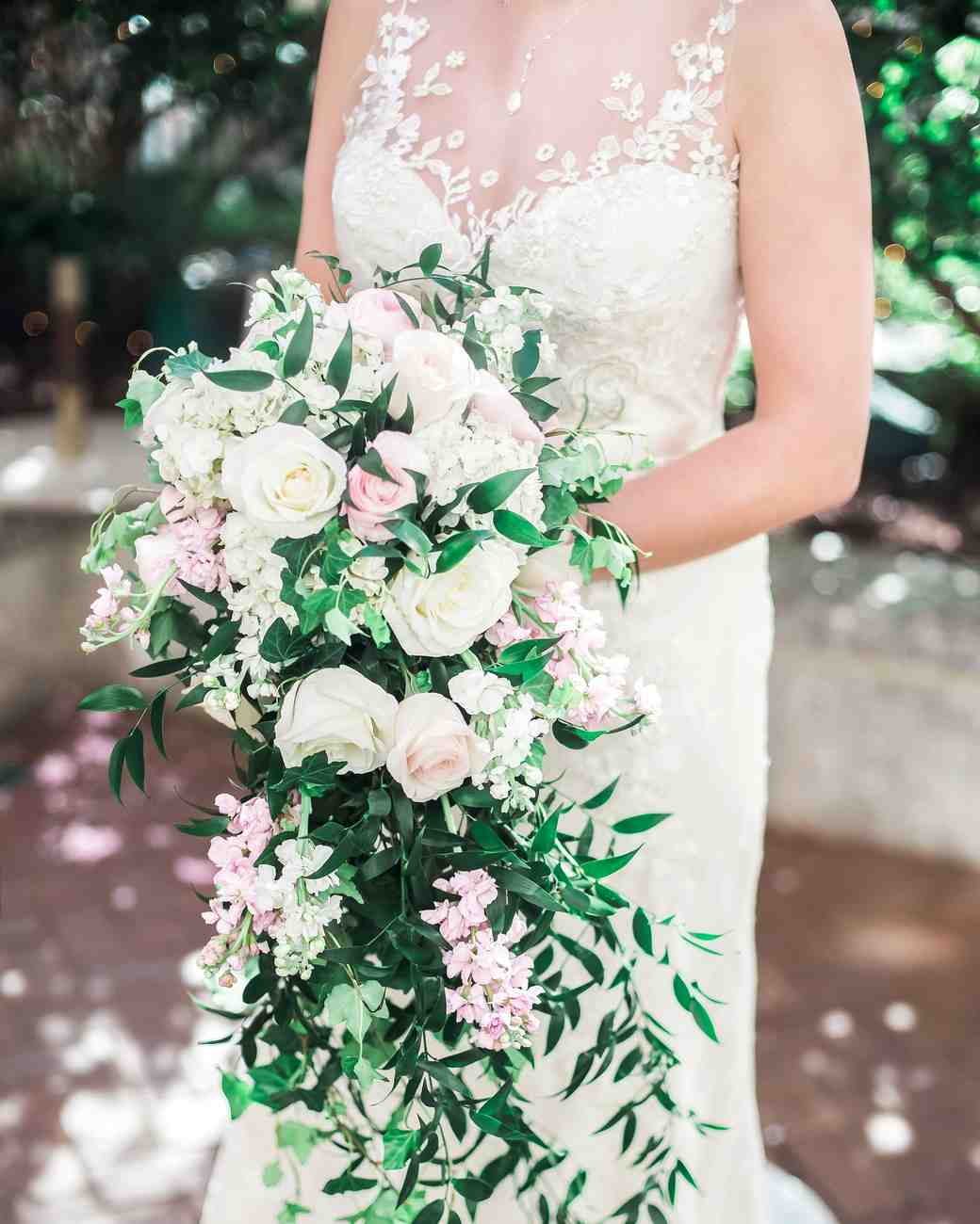 roses cascading bouquet