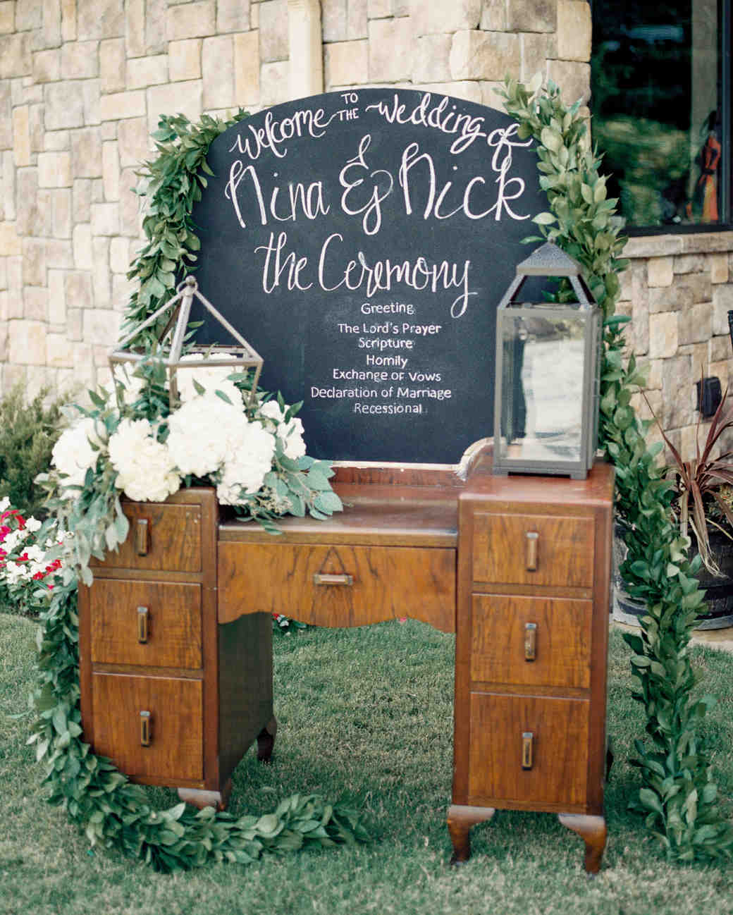 Ceremony Program Dresser