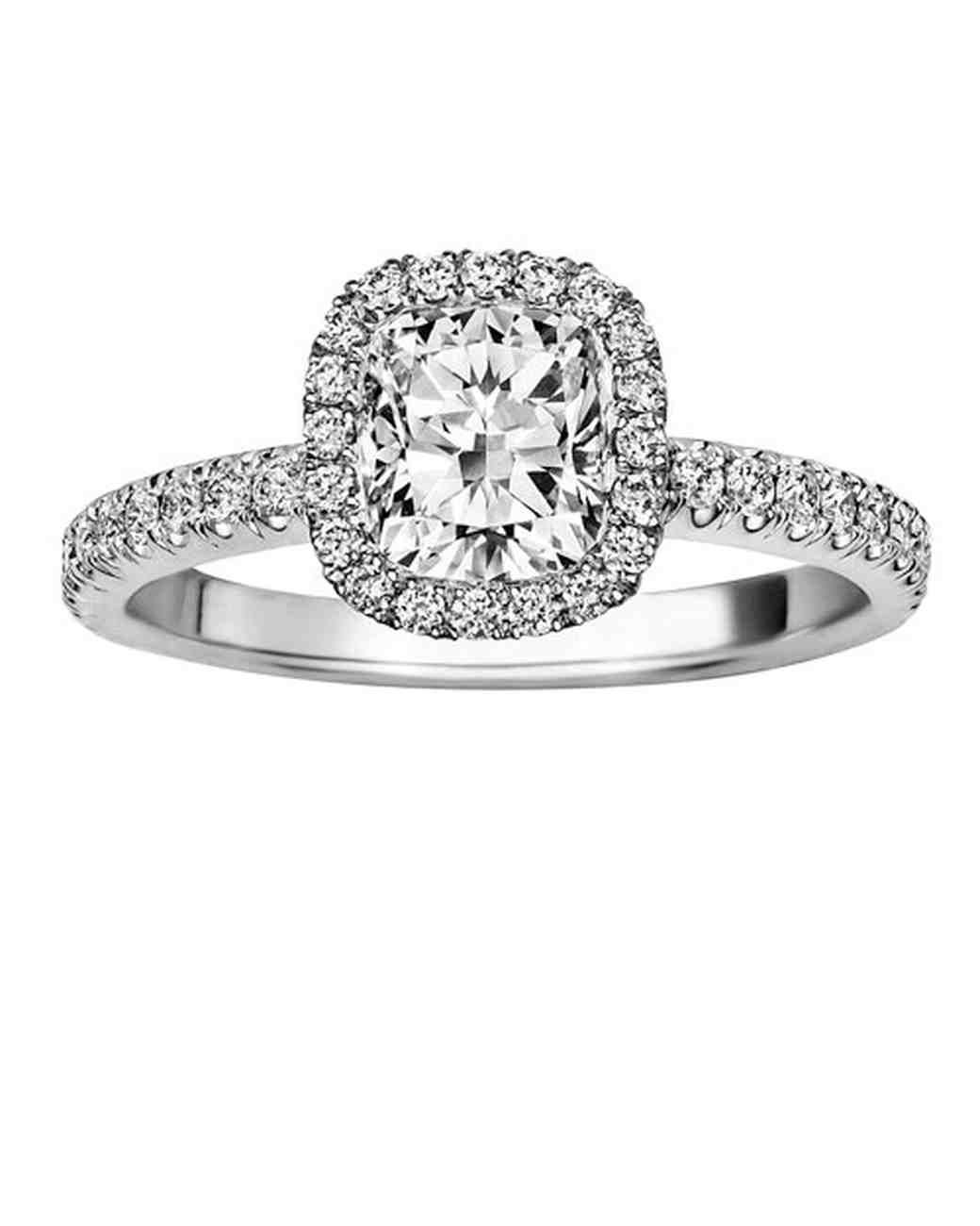 CushionCut Diamond Engagement Rings Martha Stewart Weddings