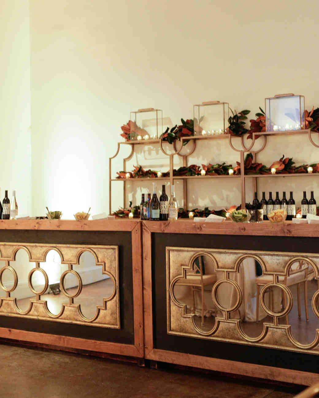 elizabeth seth wedding bar with mirror glass