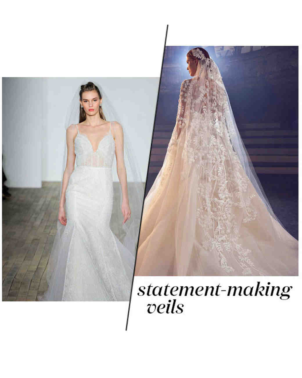 Fall 2018 Wedding Dress Trends, Statement-Making Veils