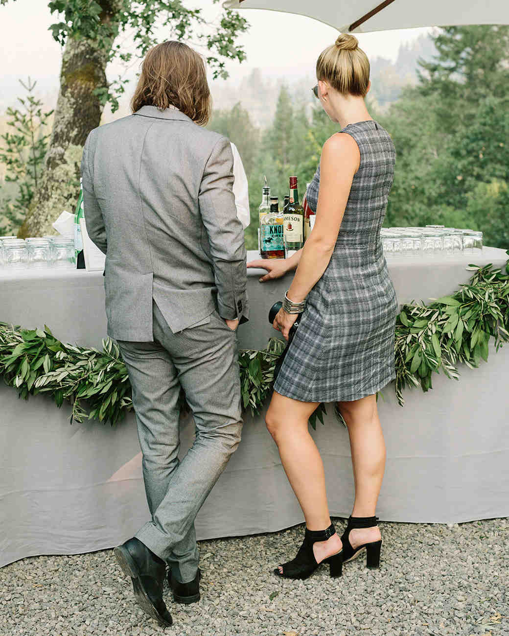 fall wedding guests attire classic gray