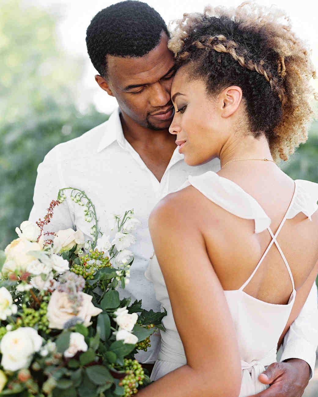 bride with under-braid updo