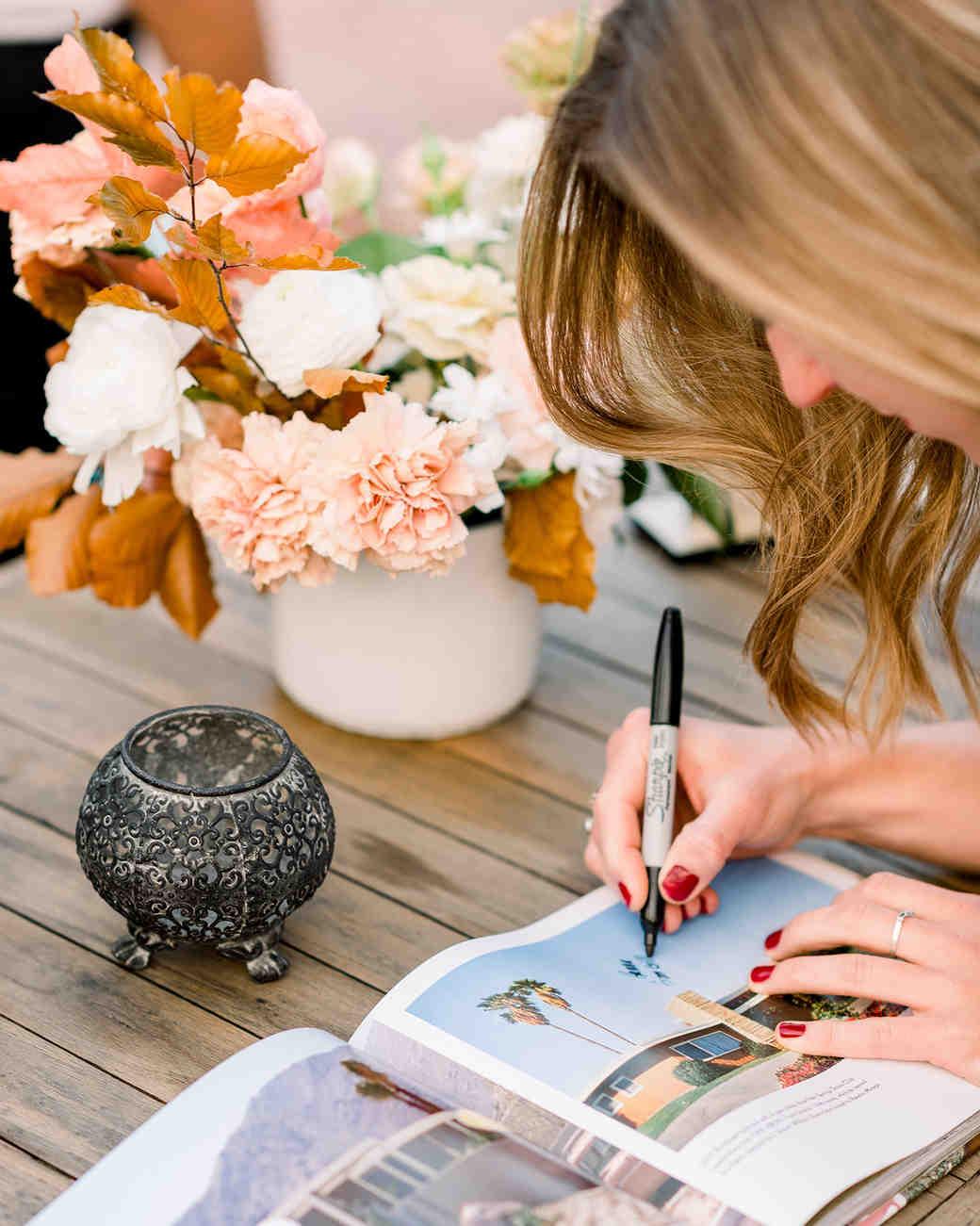 hanna will wedding guest book