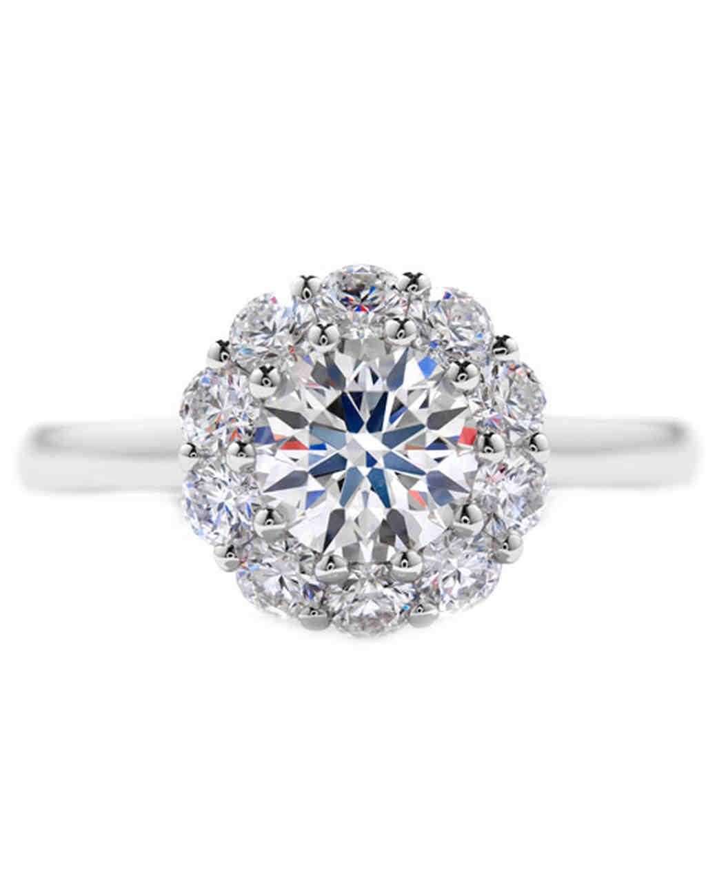 Round unique diamond engagement rings new photo