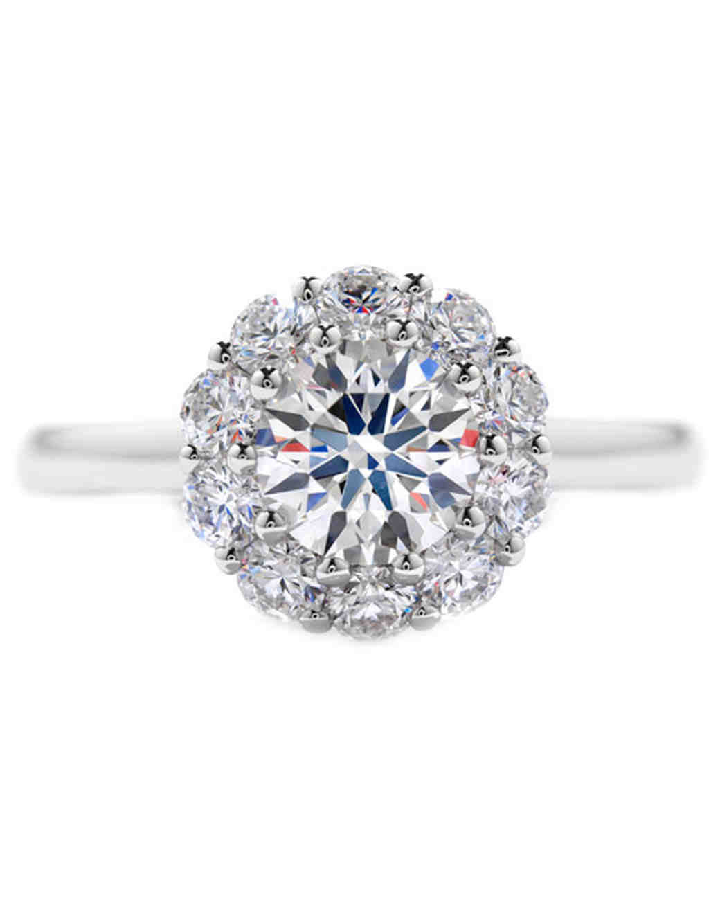 with gold diamond solitaire in setting round shank rounded cathedral half ring white engagement