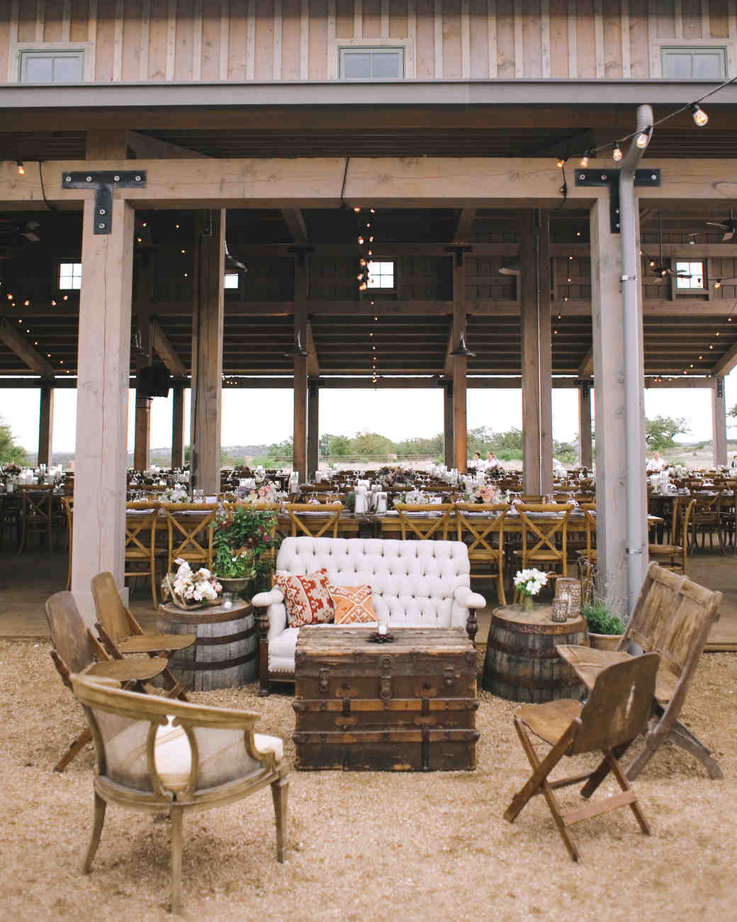 rustic reception seating