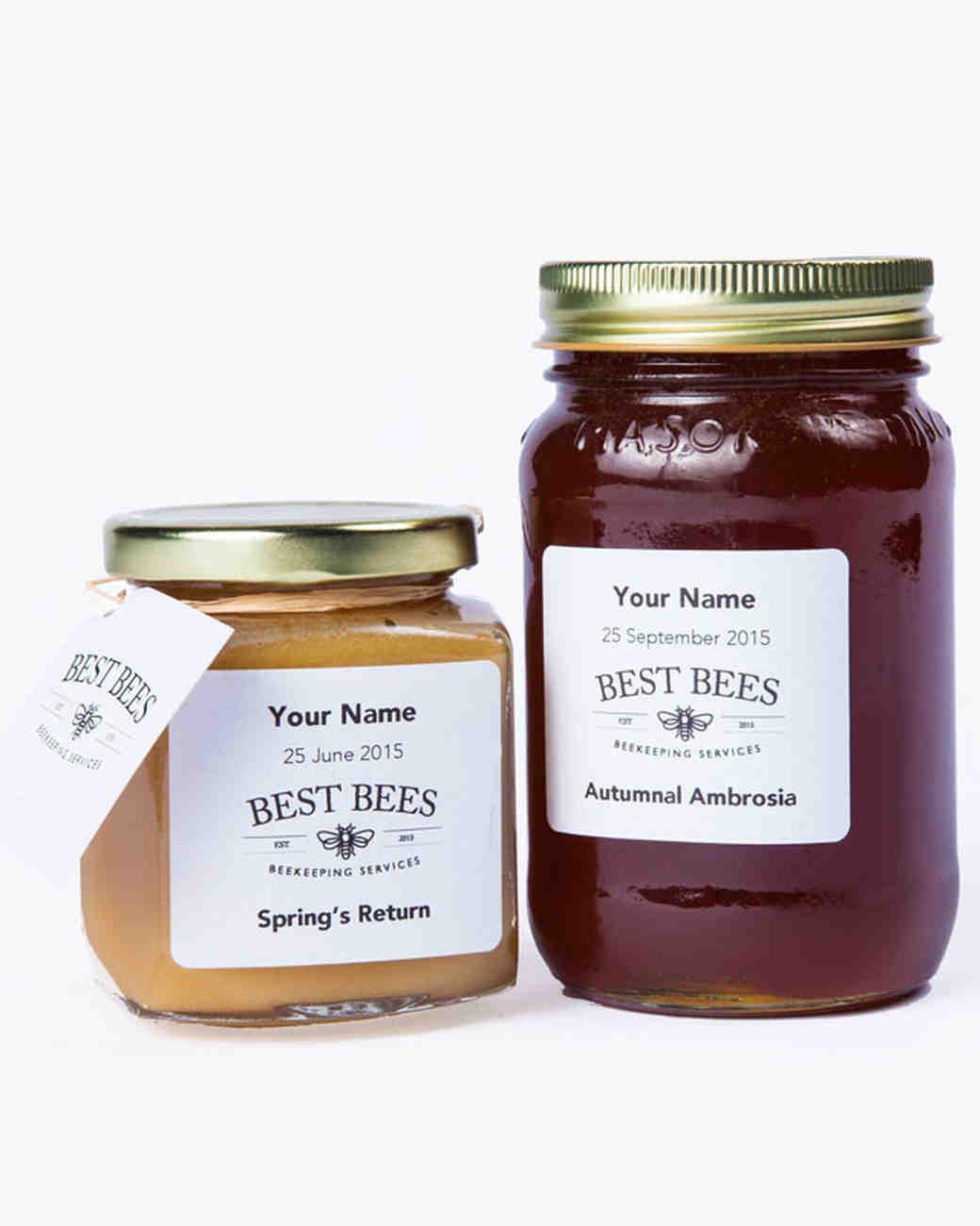 Hostess gift idea custom label Best Bees Honey Jars