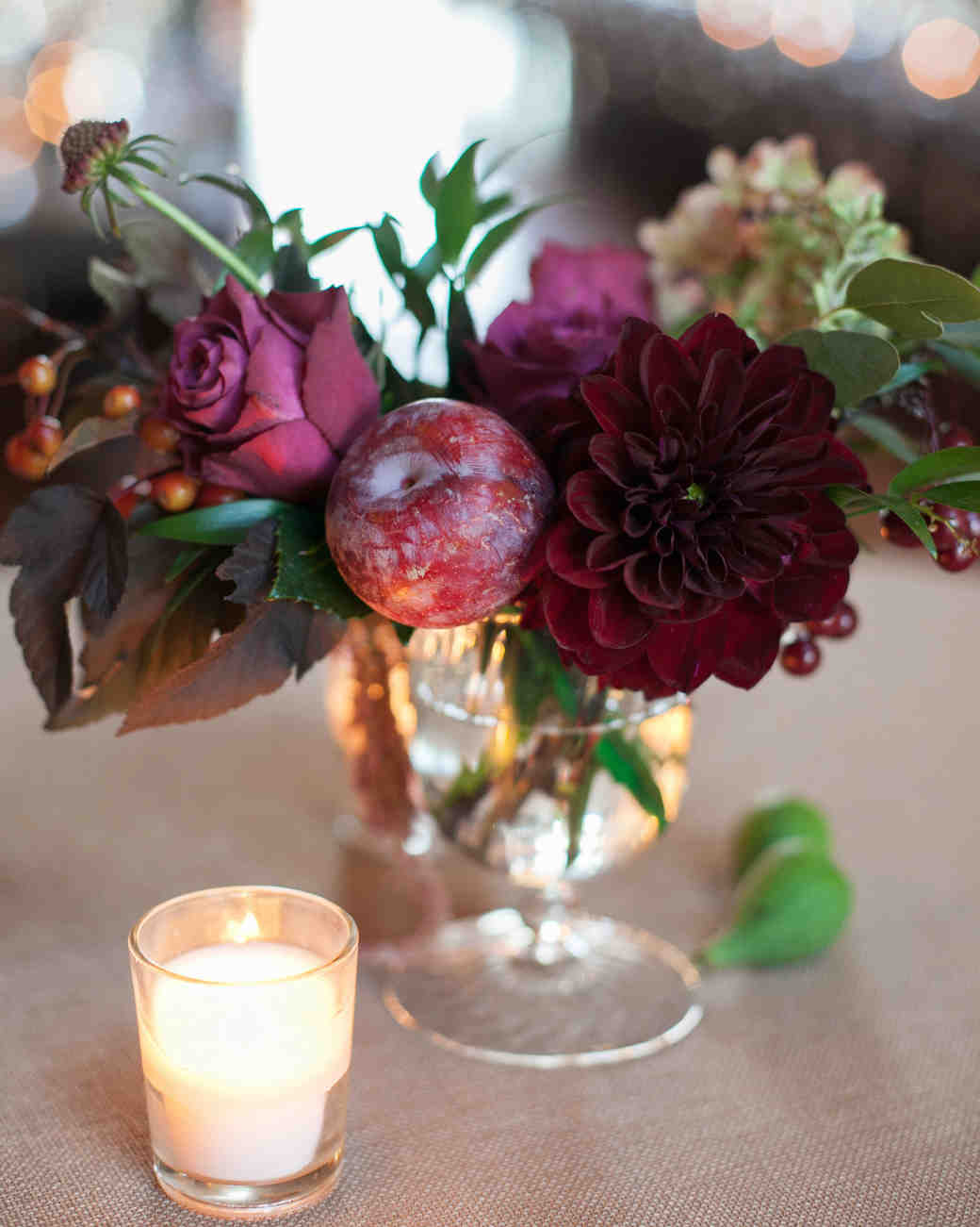 Jewel Toned Wedding Centerpieces That Will Dazzle Your