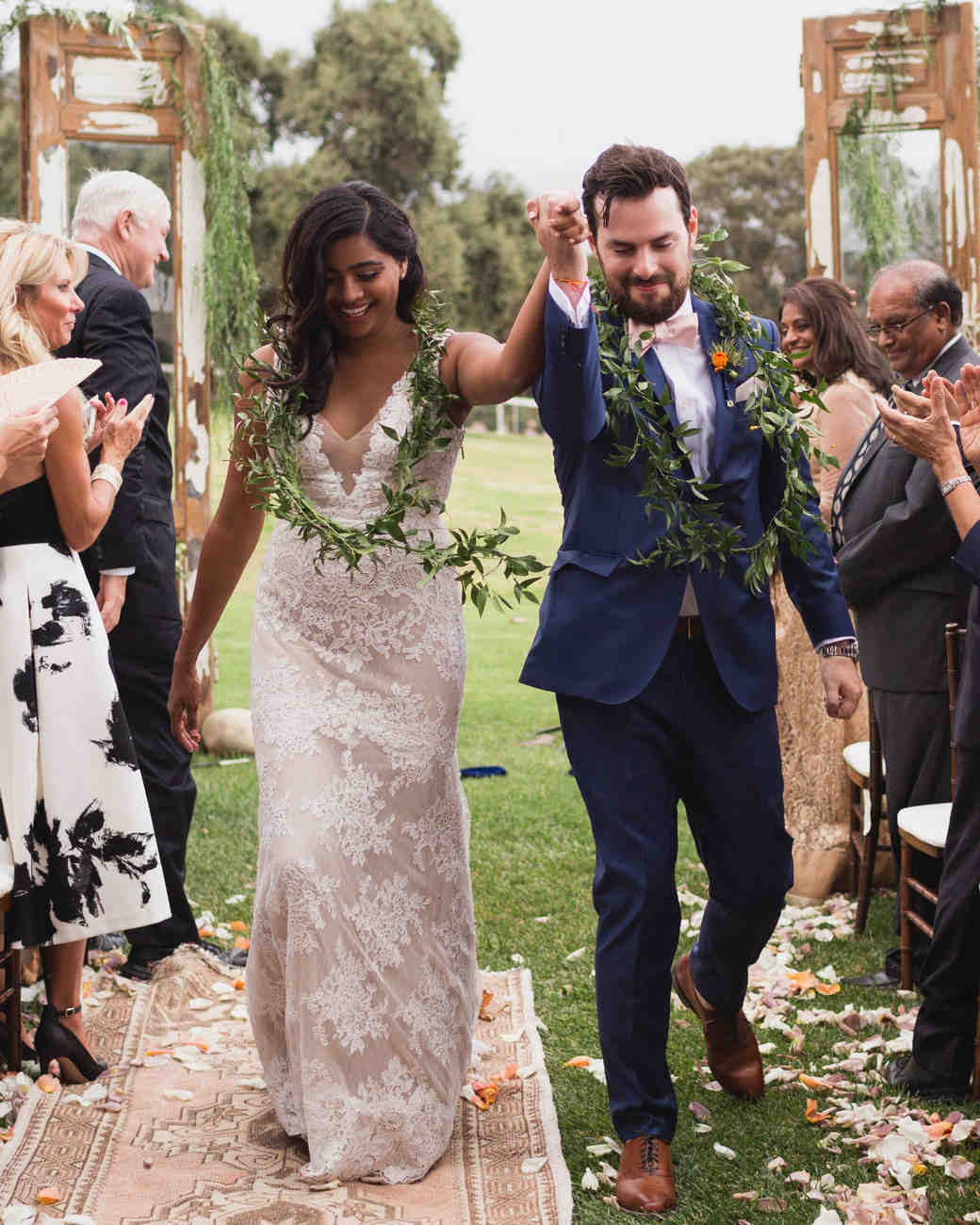 california indian jewish wedding recessional