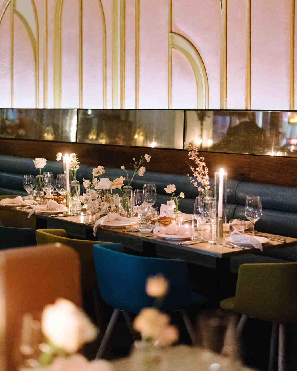 krista will wedding reception table