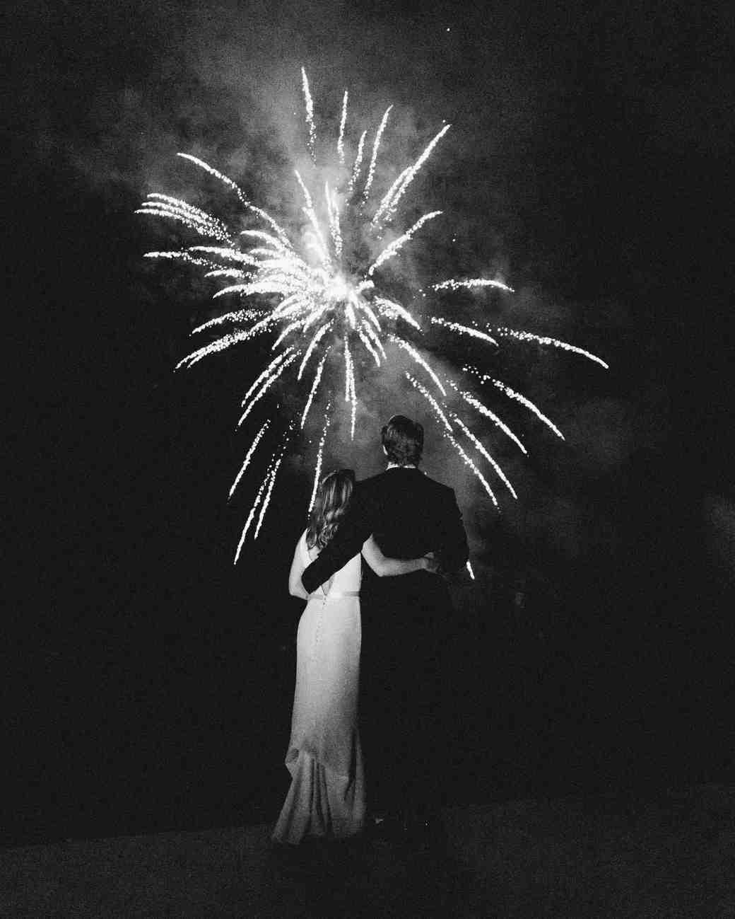 lauren alex wedding couple fireworks