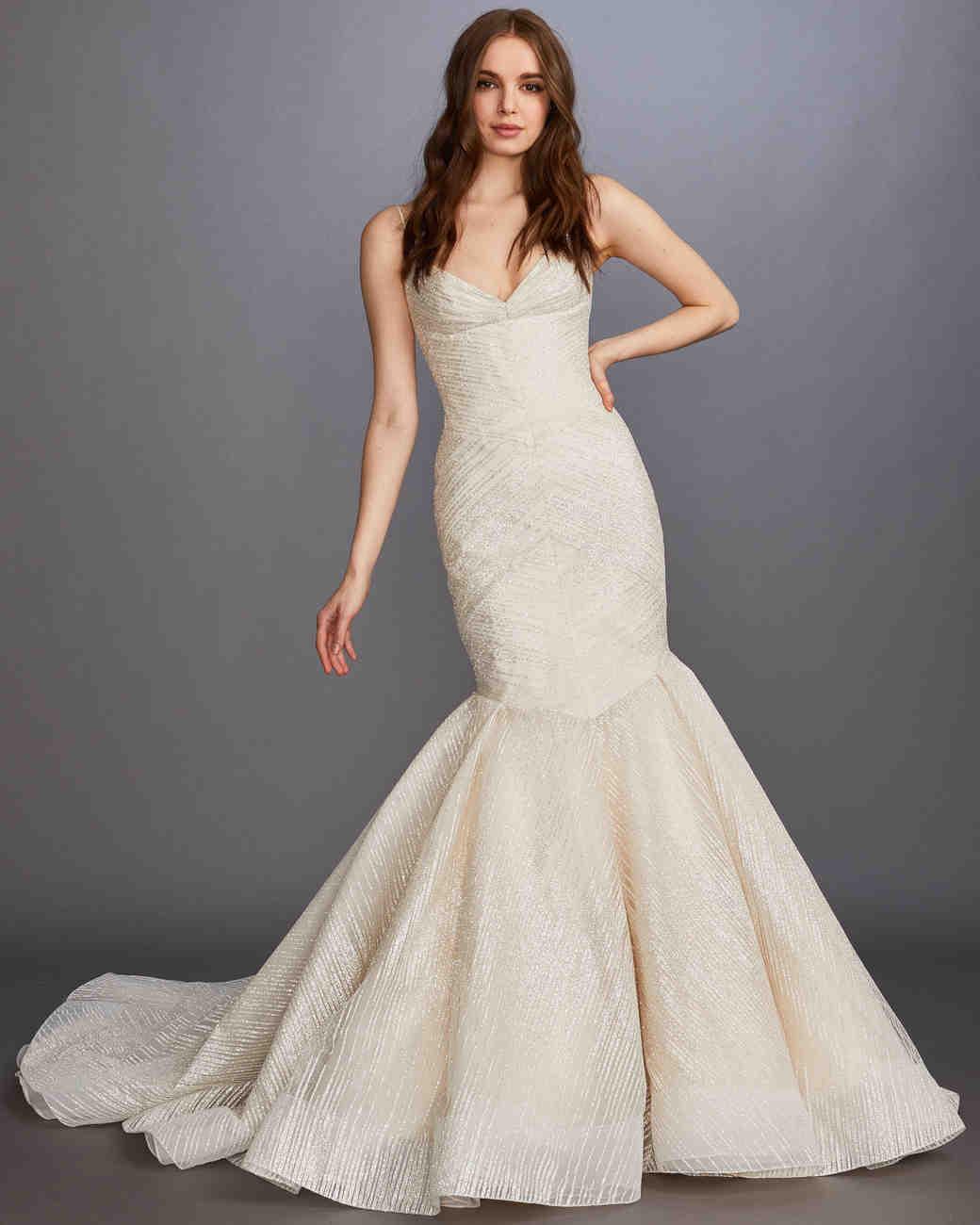 c6e155256d68 Lazaro Spring 2020 Wedding Dress Collection | Martha Stewart Weddings