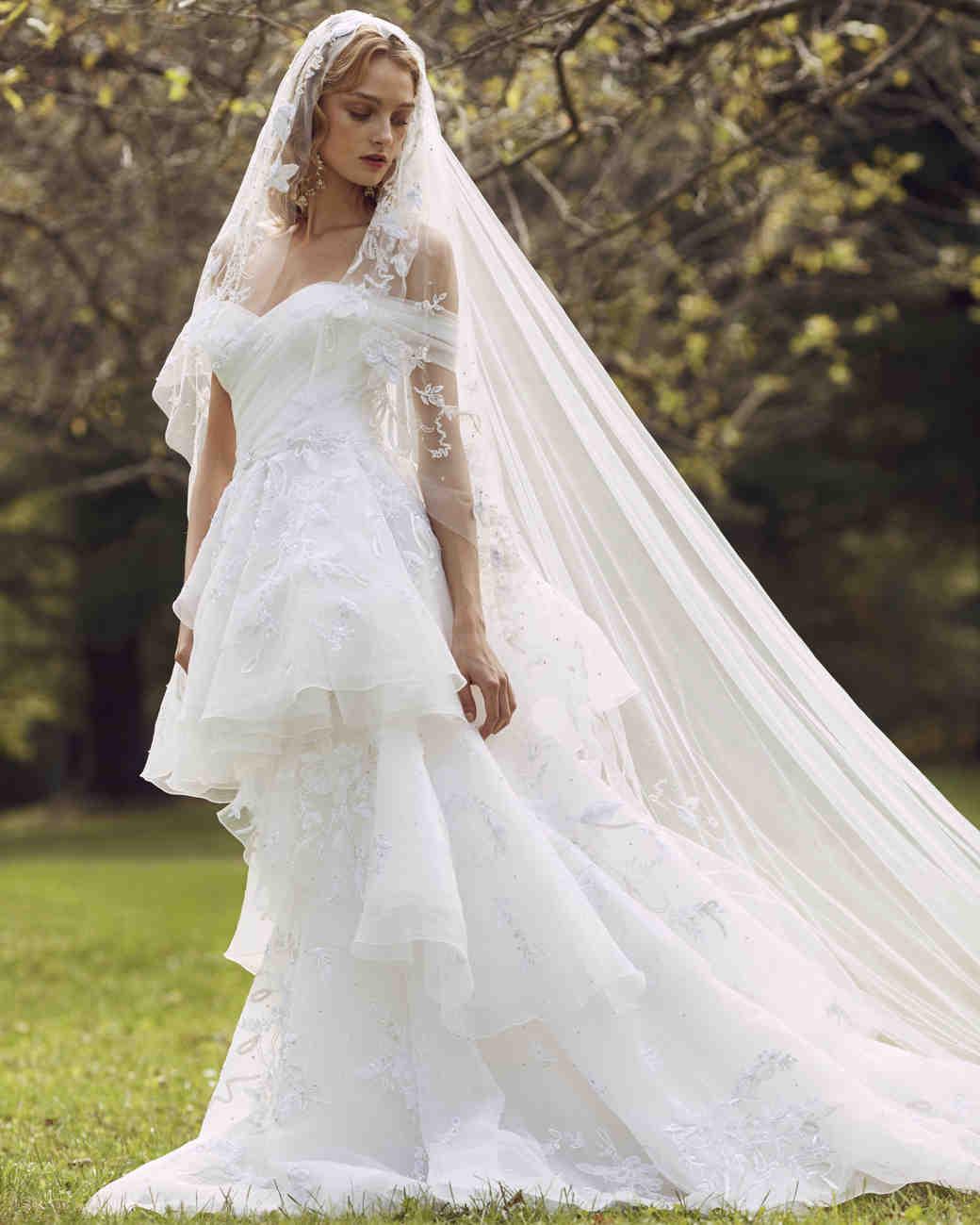 Marchesa Wedding Gown: Marchesa Fall 2019 Wedding Dress Collection