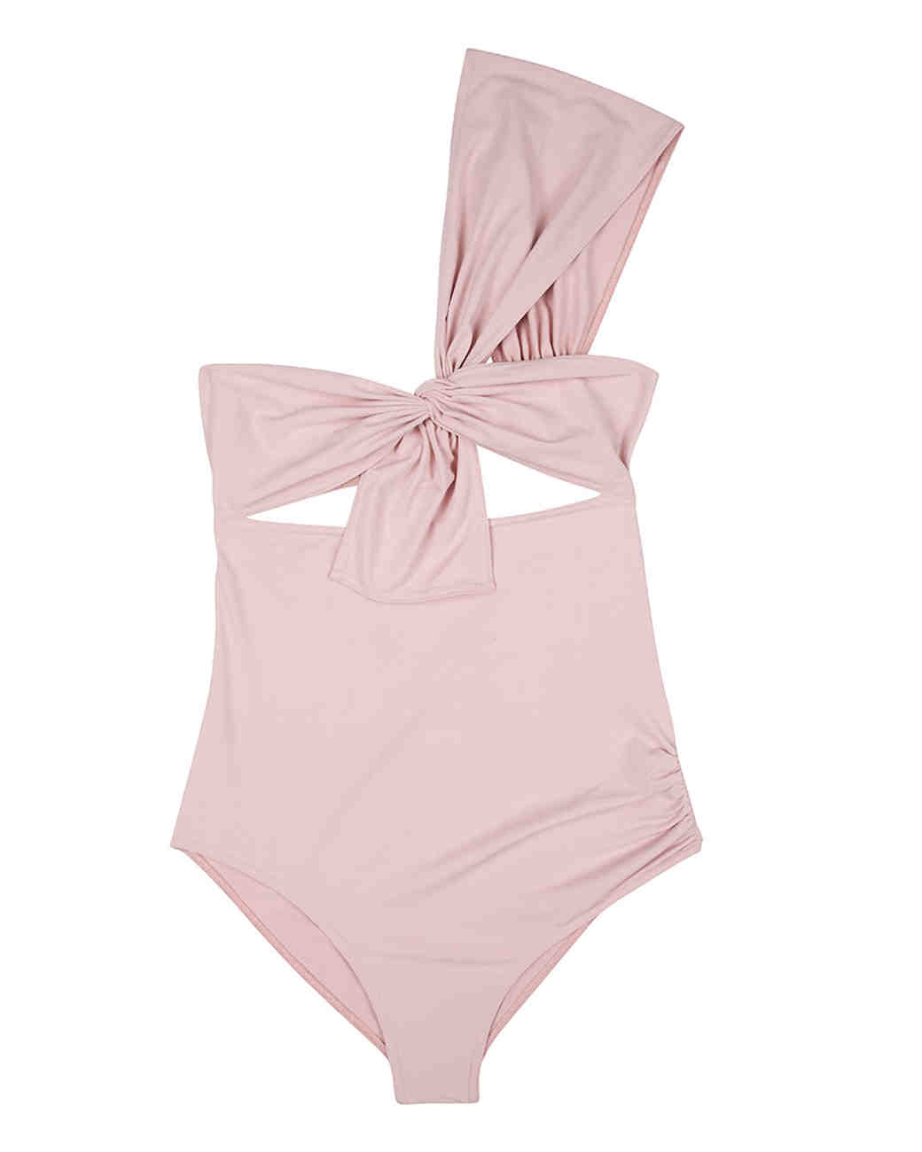Blush Shoulder Bow Swimsuit