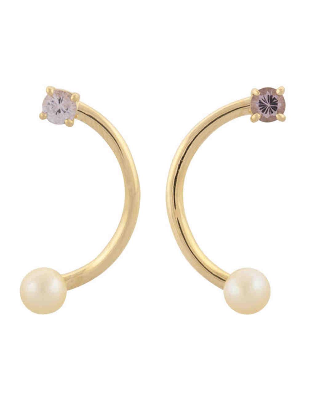pearl wedding earrings mociun