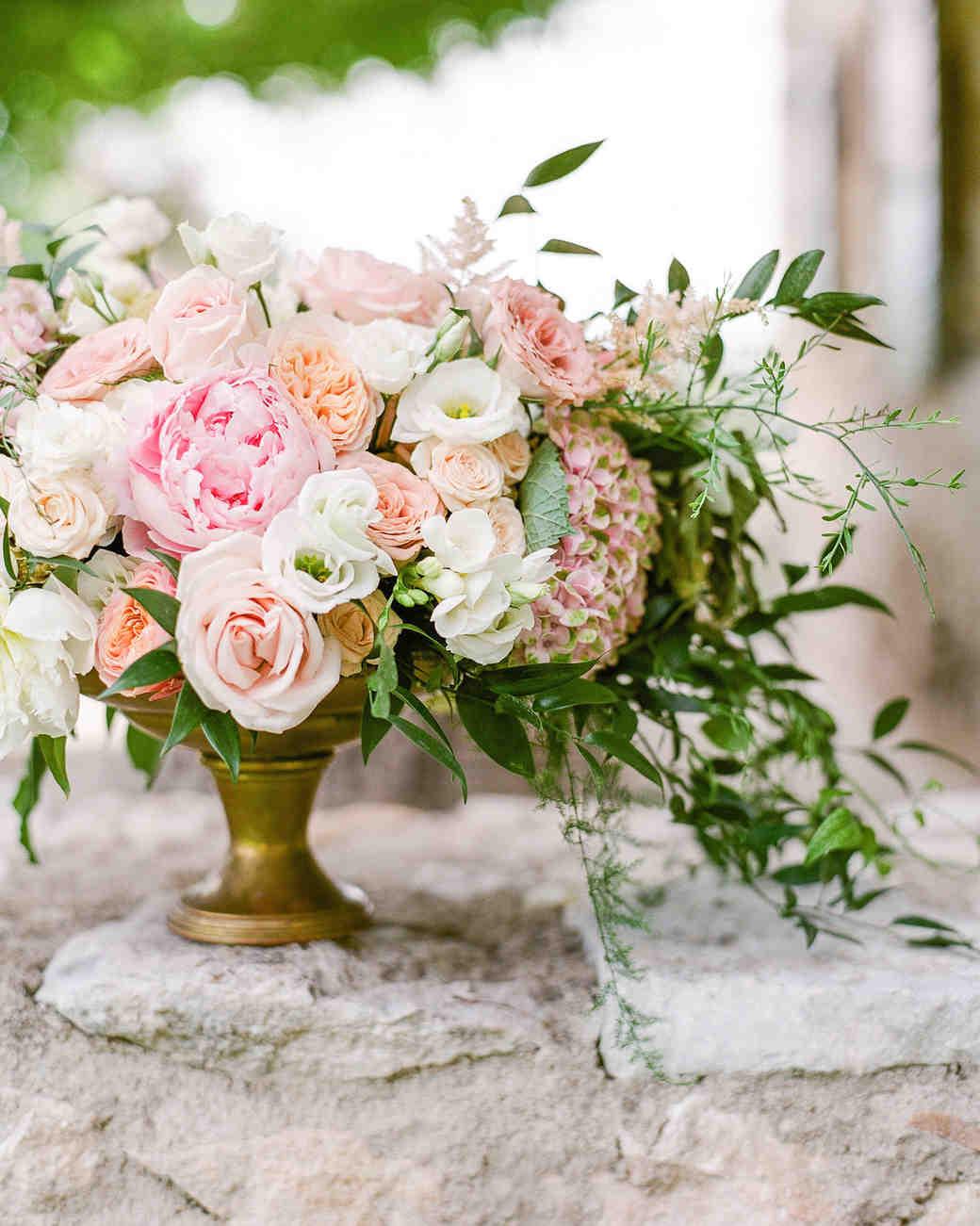 The prettiest peony wedding centerpieces martha stewart weddings mightylinksfo