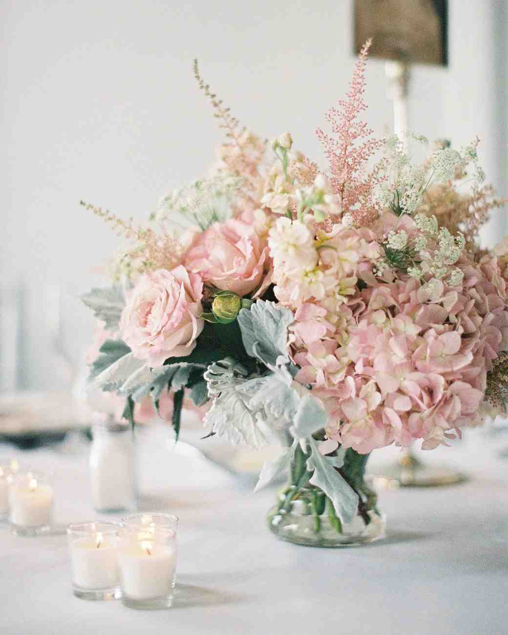 pale pink centerpiece