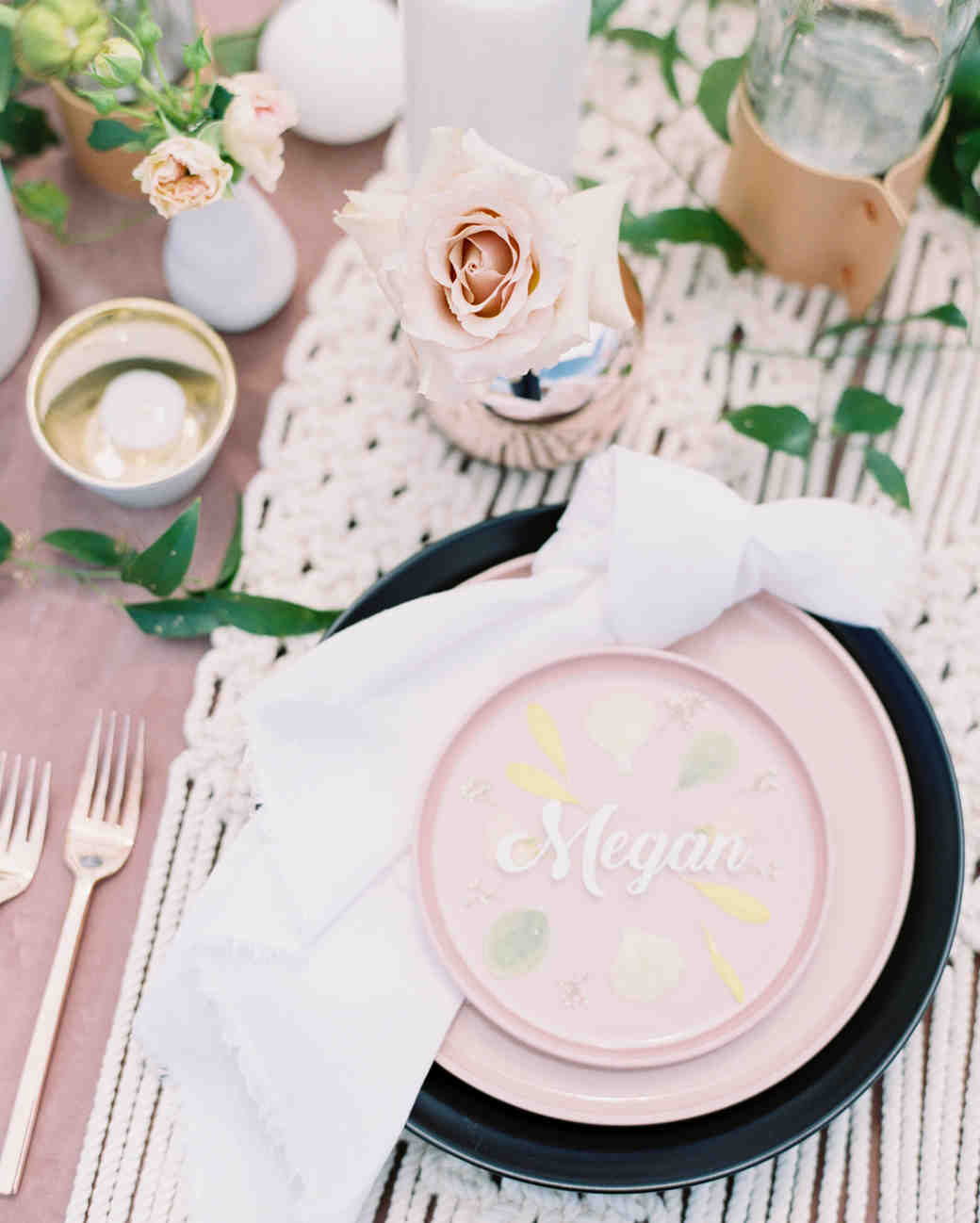 Pressed Flower Table Setting