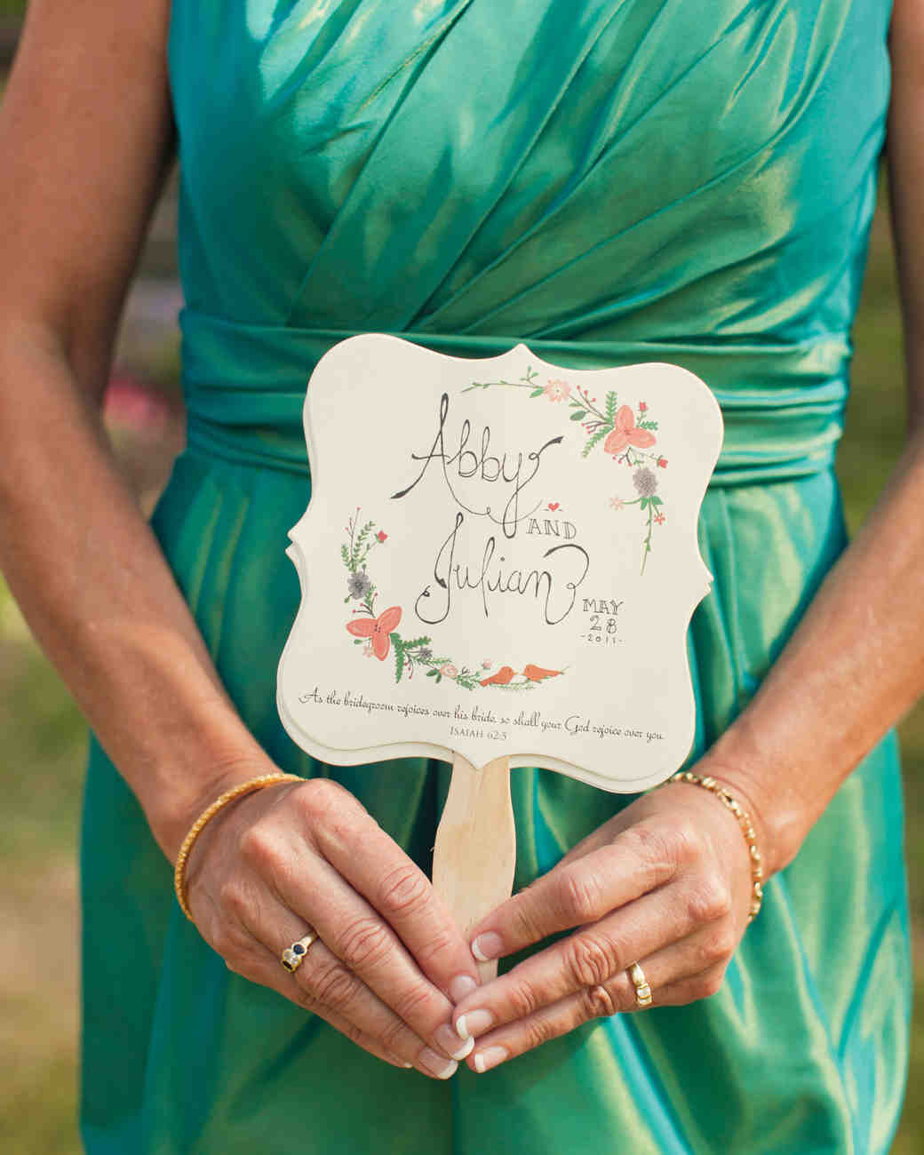 11 wedding program fans to keep guests cool martha stewart weddings