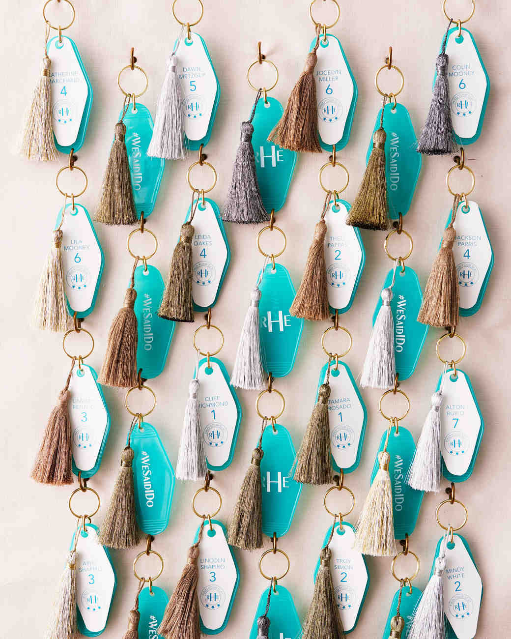 Keychain Favor Wall