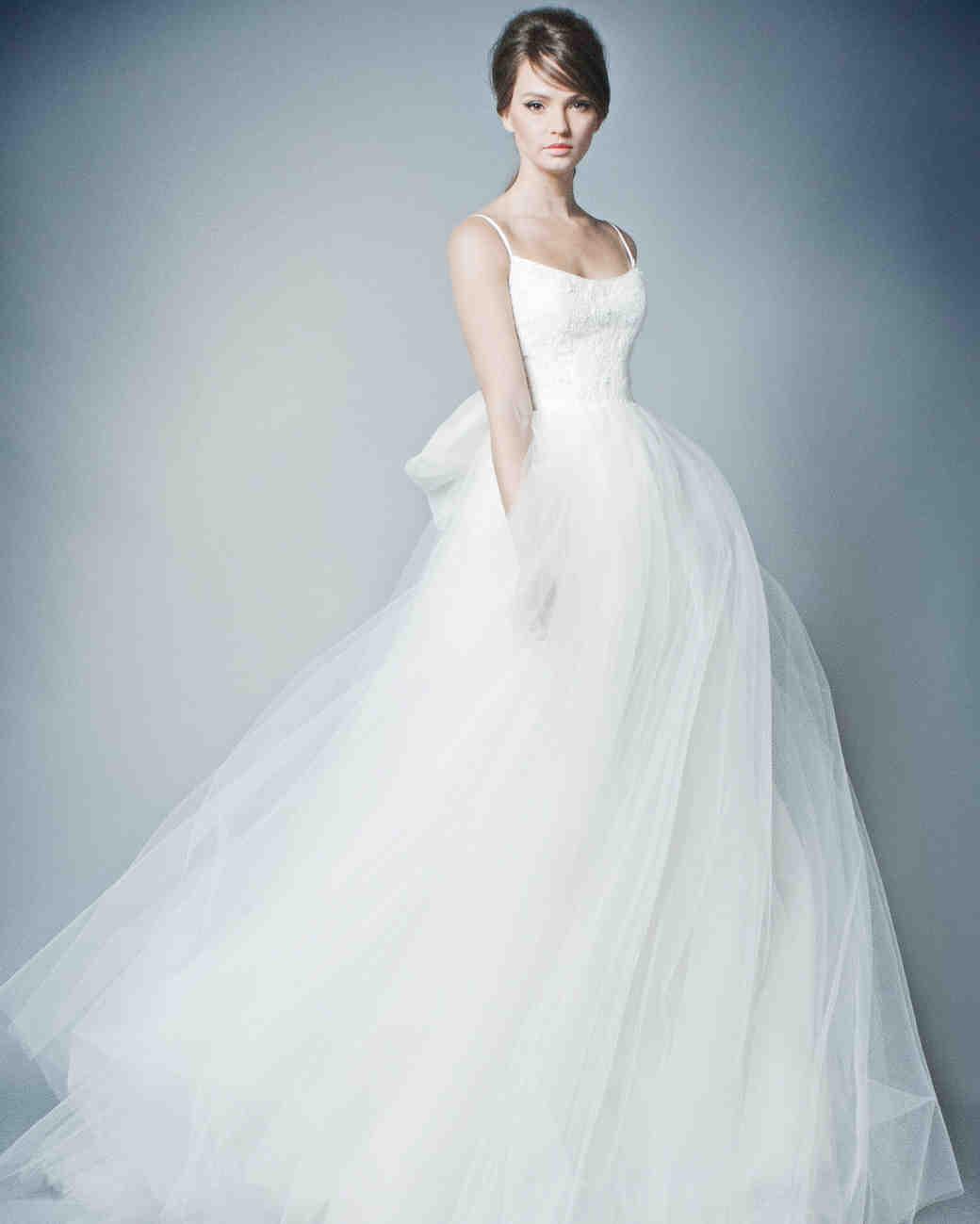Romona New York Spring 2019 Wedding Dress Collection Martha Jolie Clothing Rhey Tulle Skirt Stewart Weddings