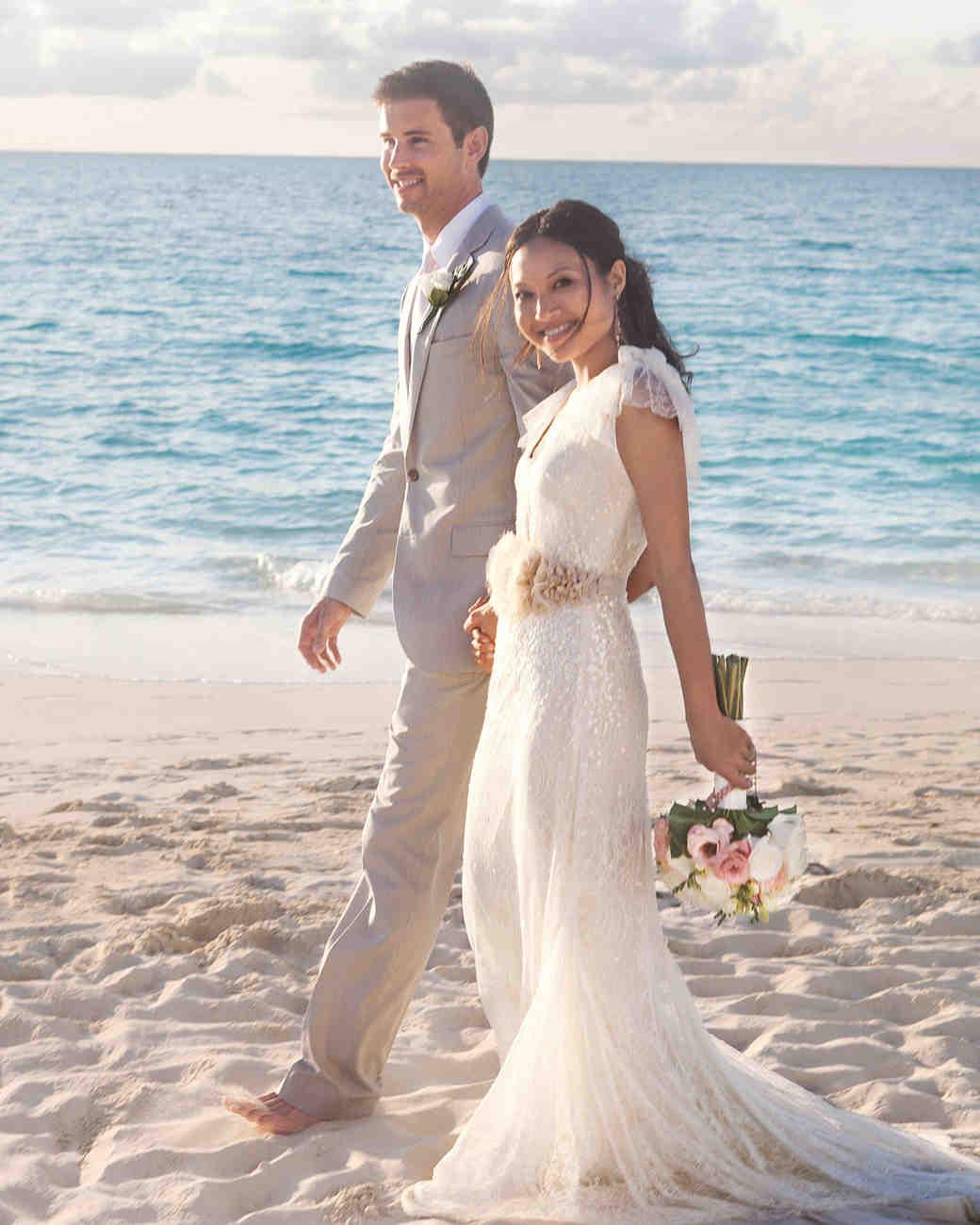 A Romantic Vintage Destination Wedding In Turks And Caicos: Tropical Island Beach Wedding Dresses At Reisefeber.org